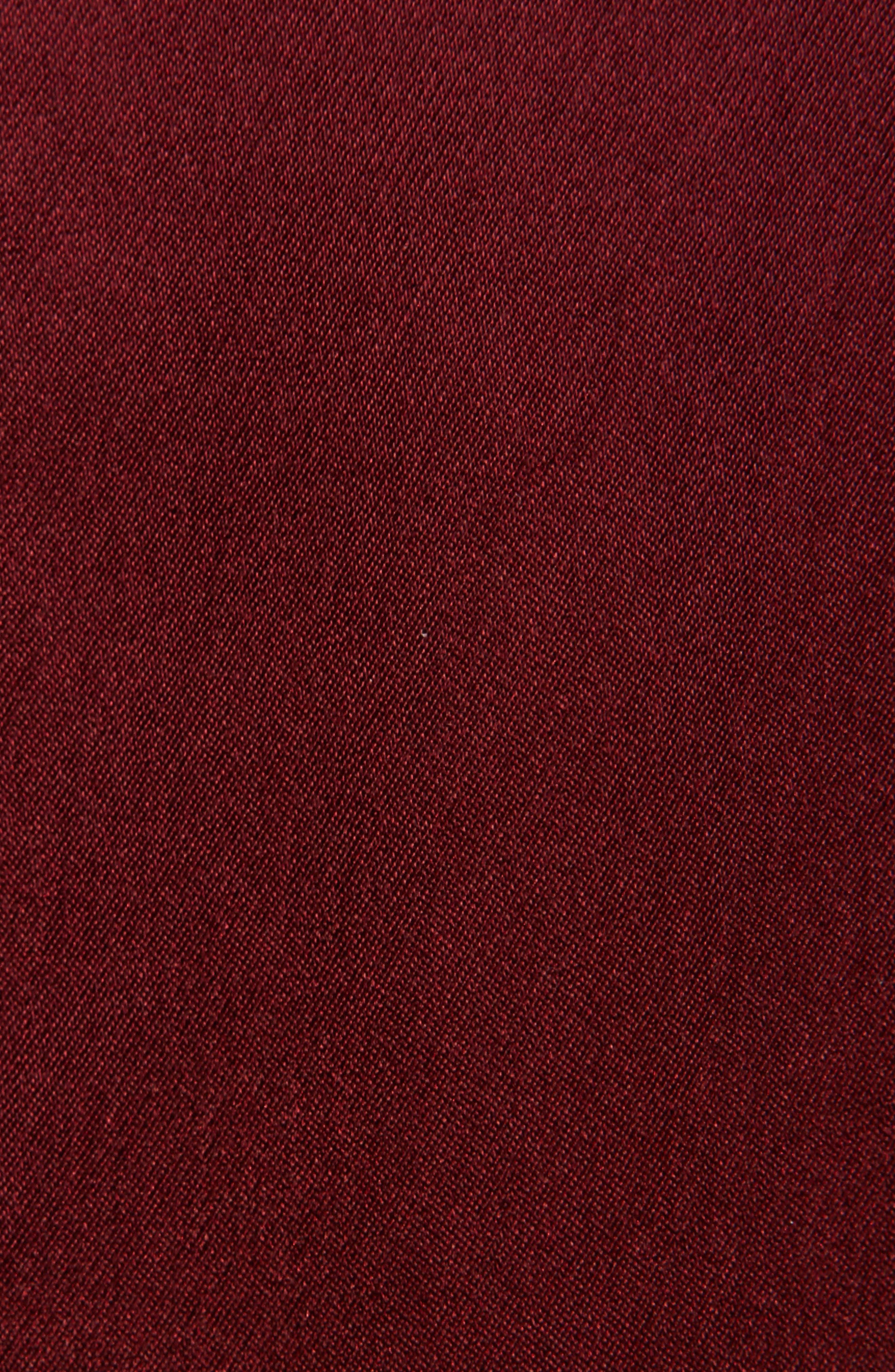 Mock Two-Piece Satin Dress,                             Alternate thumbnail 3, color,                             Dark Red