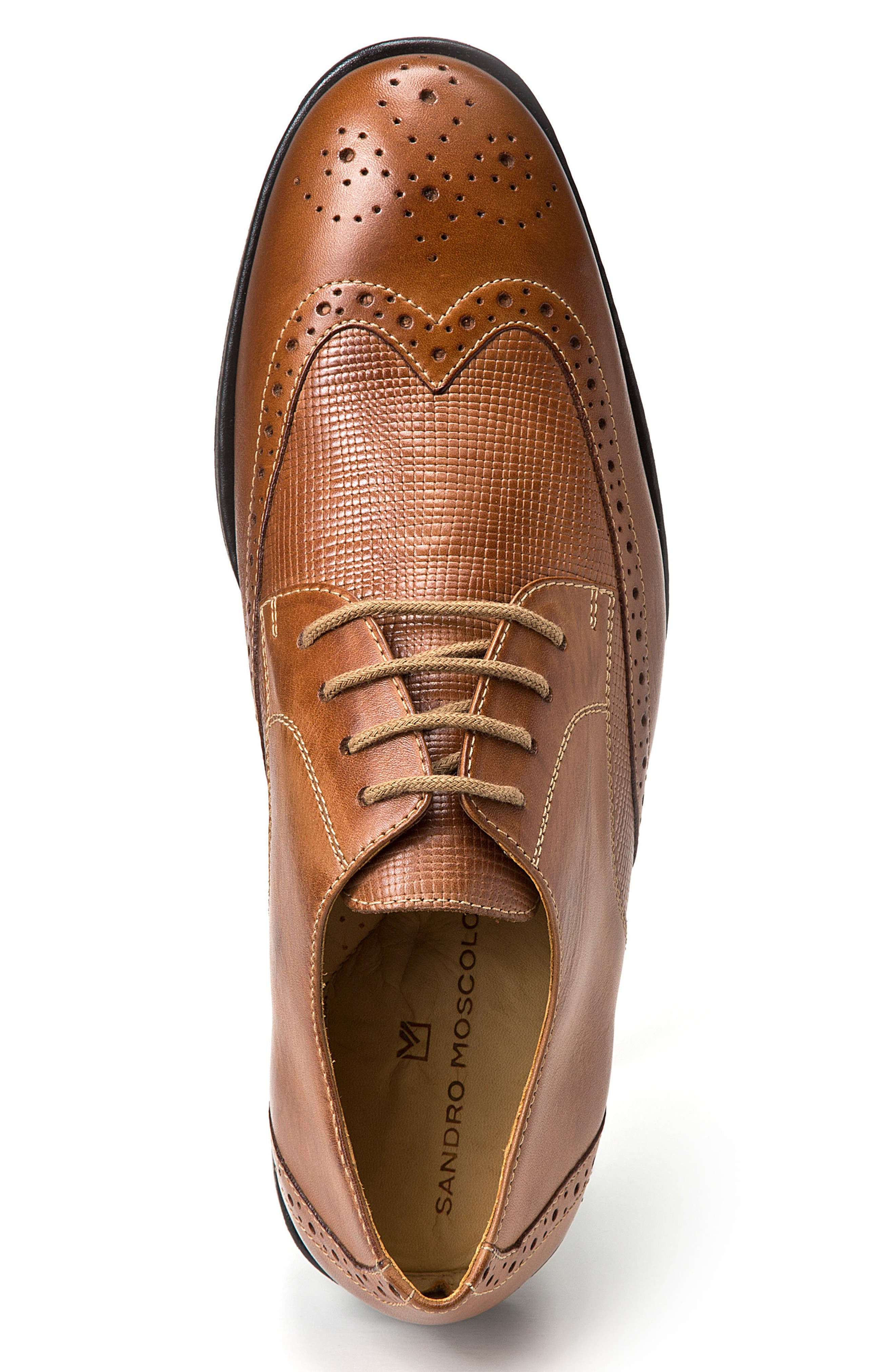 Donovan Wingtip,                             Alternate thumbnail 3, color,                             Tan Leather