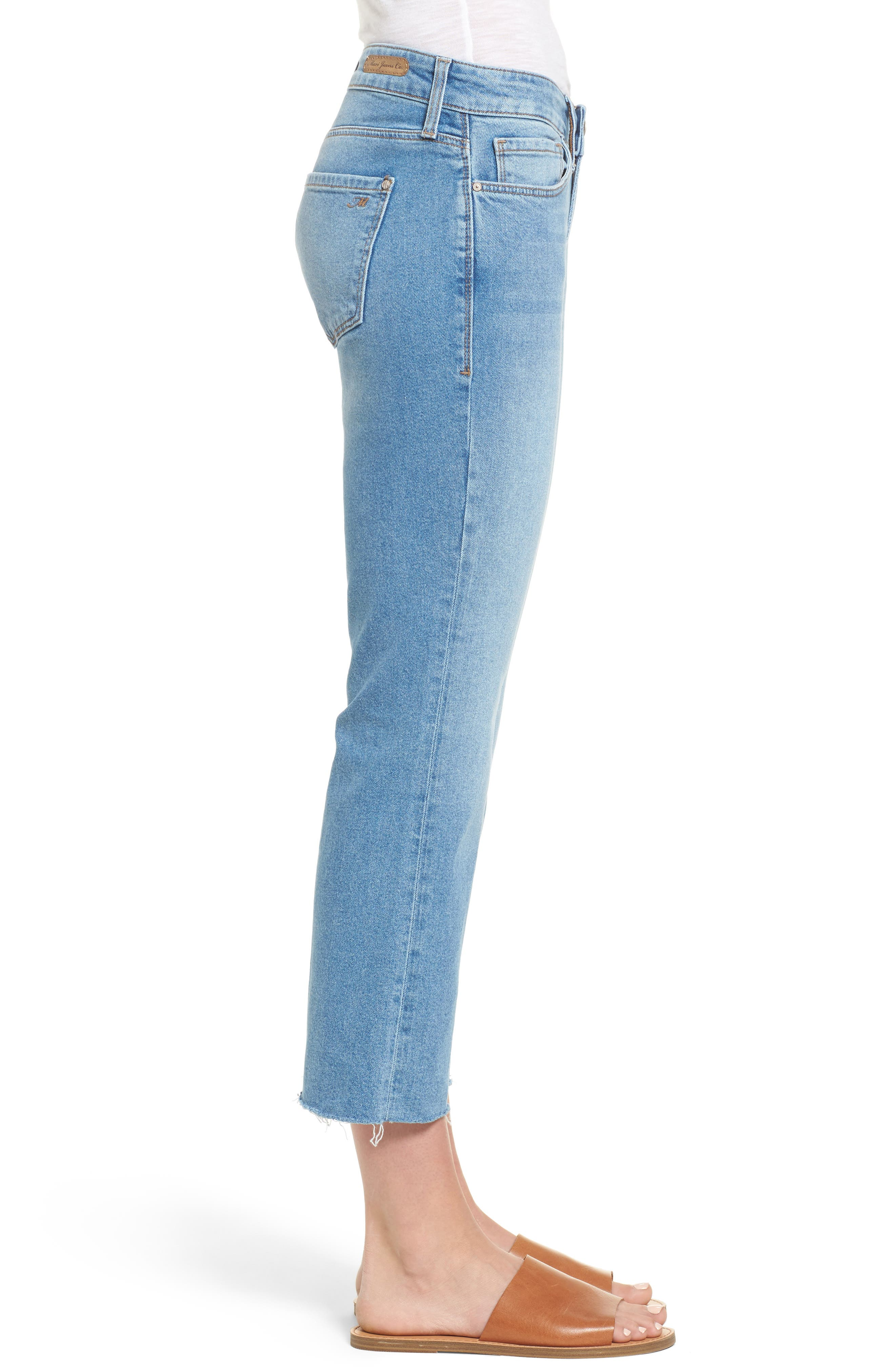 Anika Stretch Crop Jeans,                             Alternate thumbnail 3, color,                             Light Used Retro