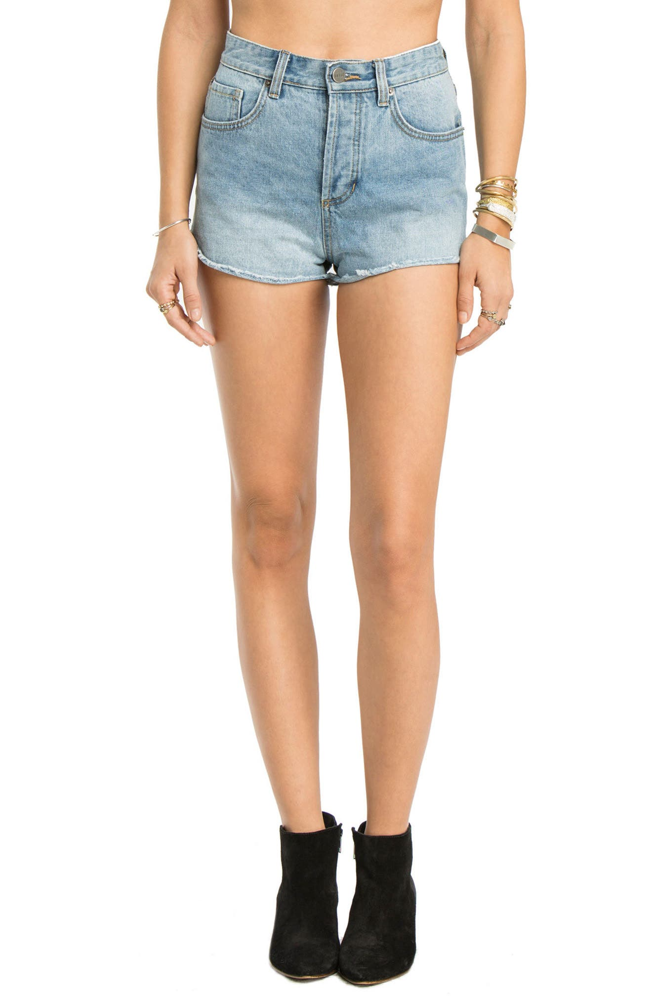 AMUSE SOCIETY Easton Cutoff Denim Shorts