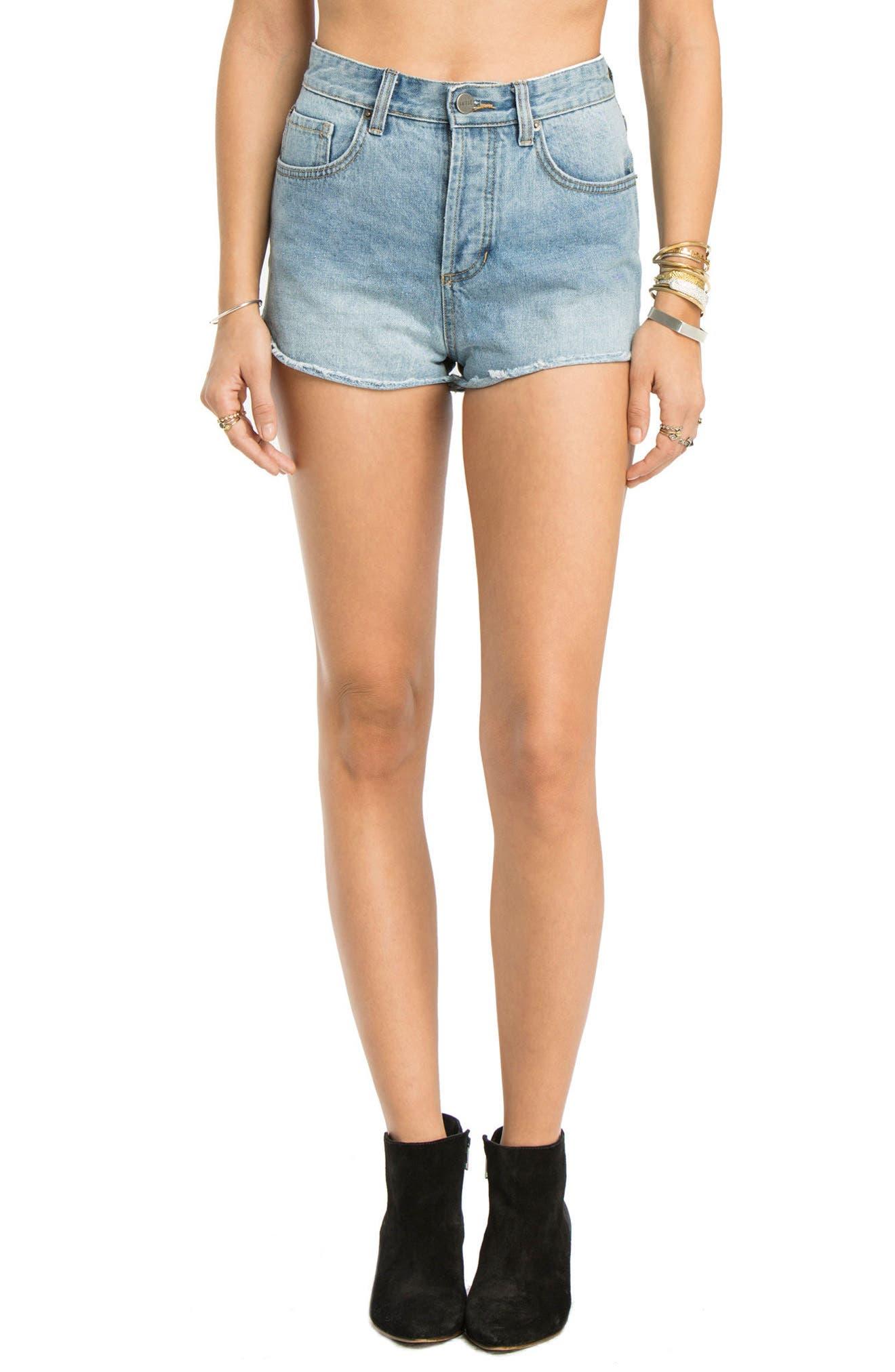 Amuse Society 'Easton' Cutoff Denim Shorts