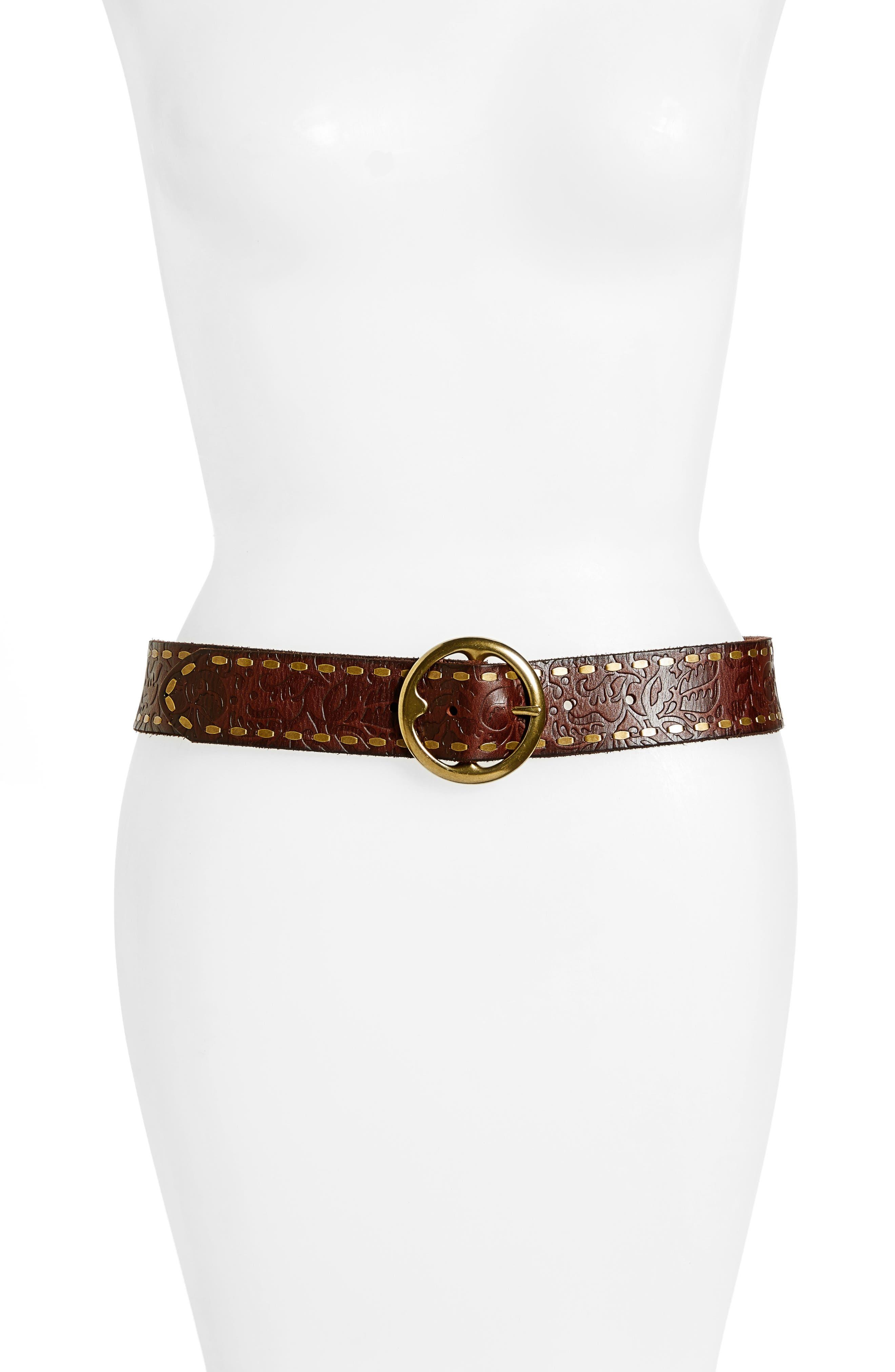 Treasure & Bond Embossed Leather Belt