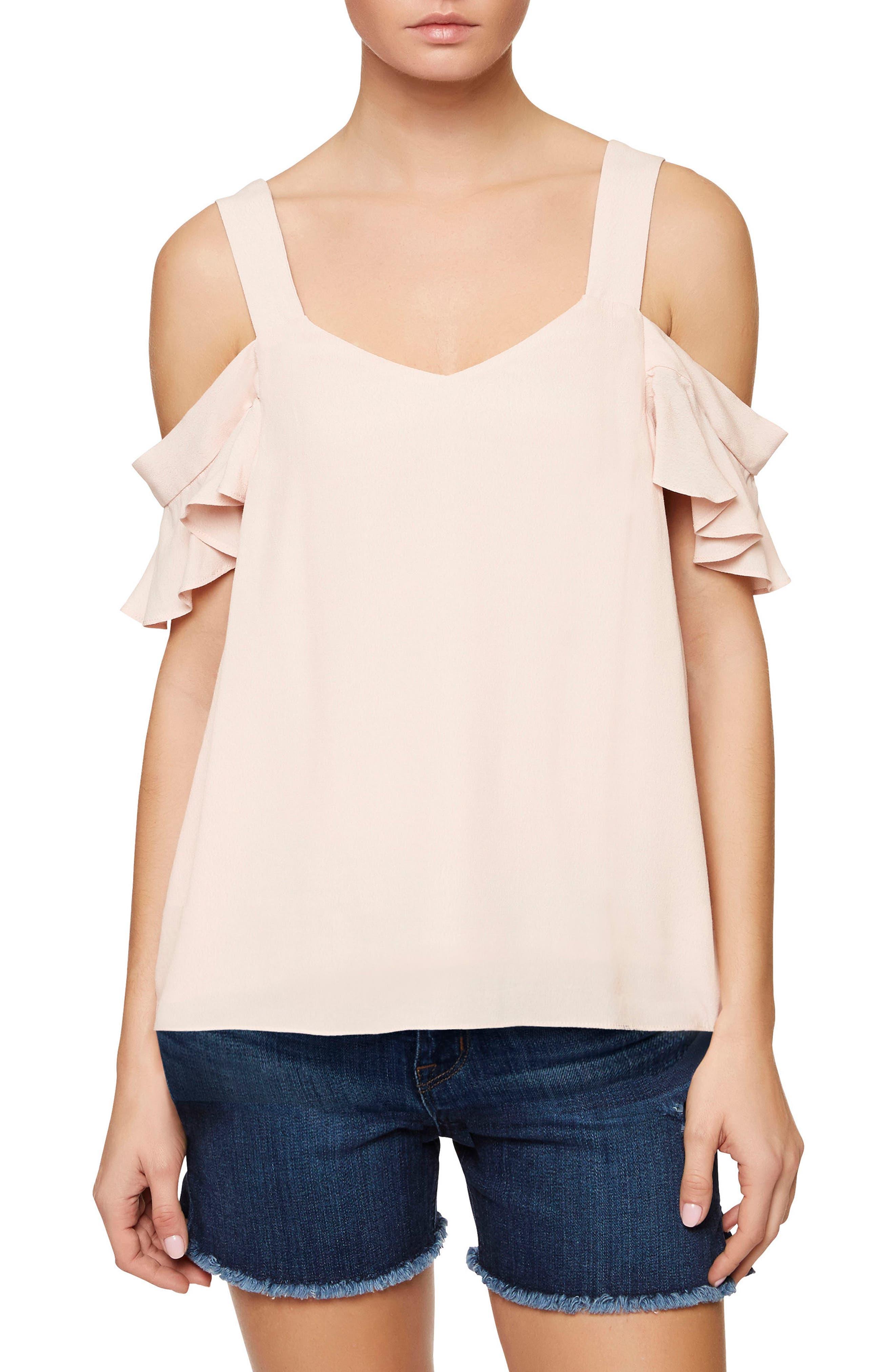 Annie Cold Shoulder Blouse,                         Main,                         color, Cameo Pink