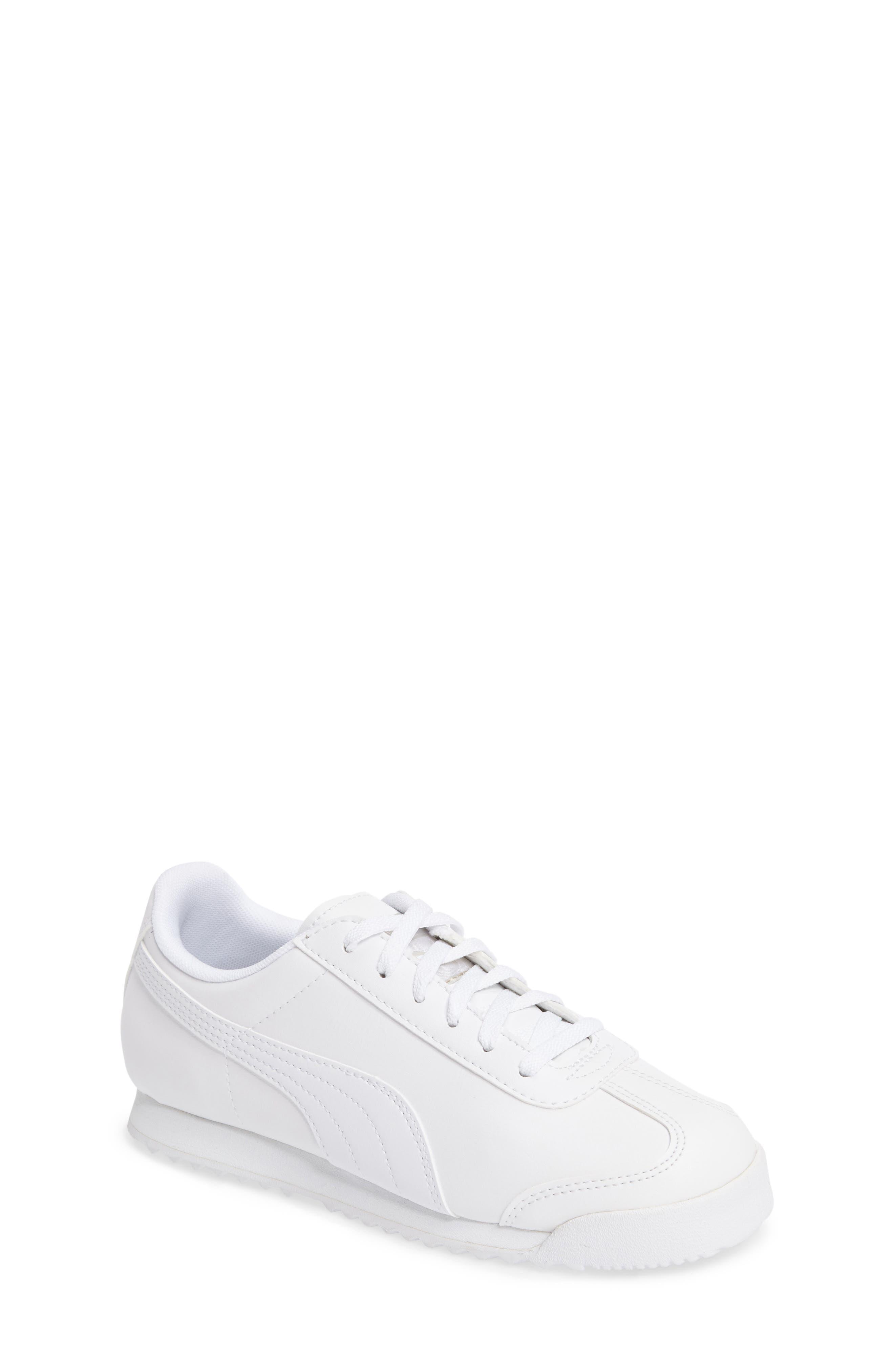 Roma Basic Sneaker,                         Main,                         color, White/ Light Grey