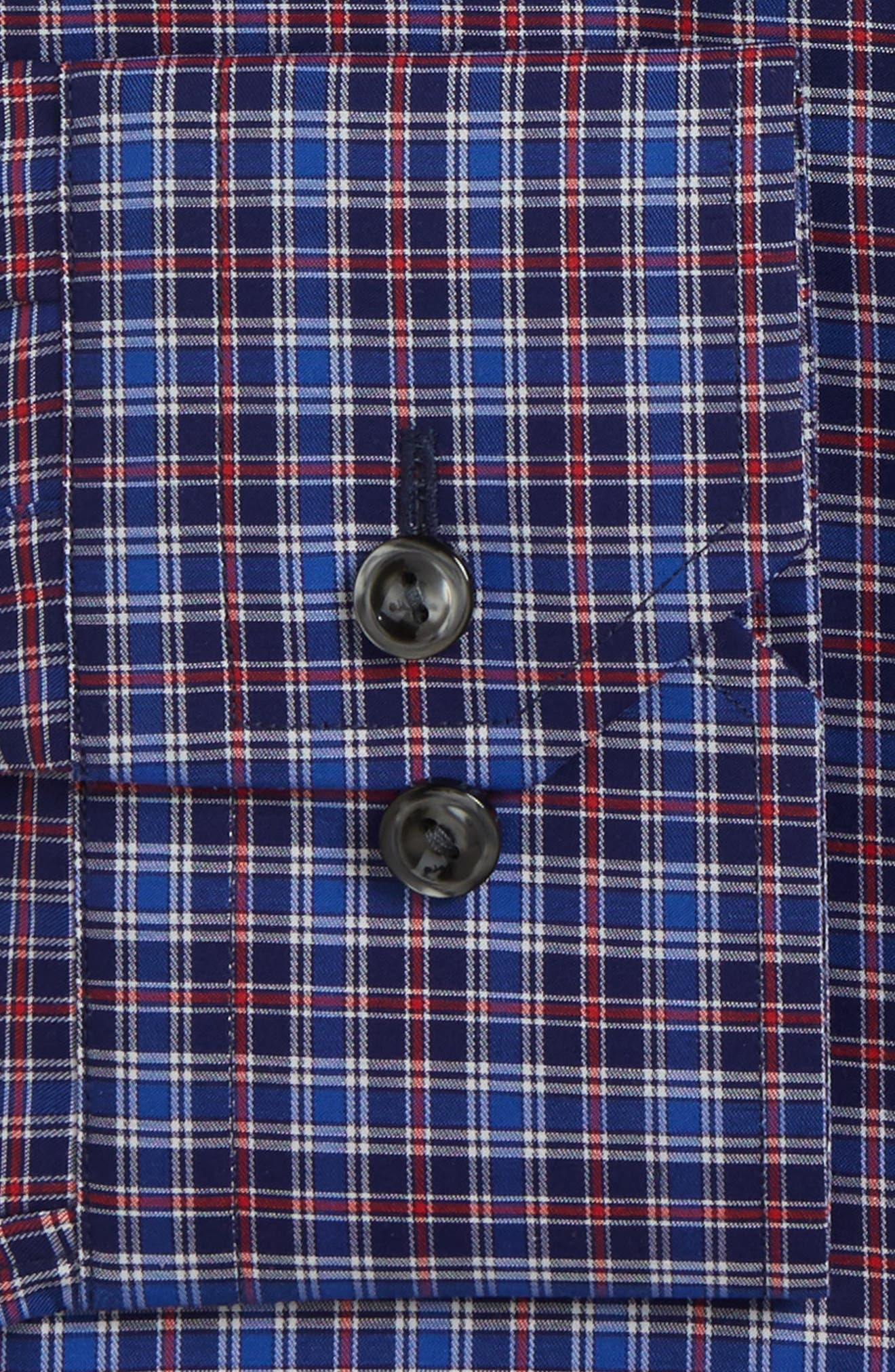 Slim Fit Plaid Dress Shirt,                             Alternate thumbnail 2, color,                             Blue