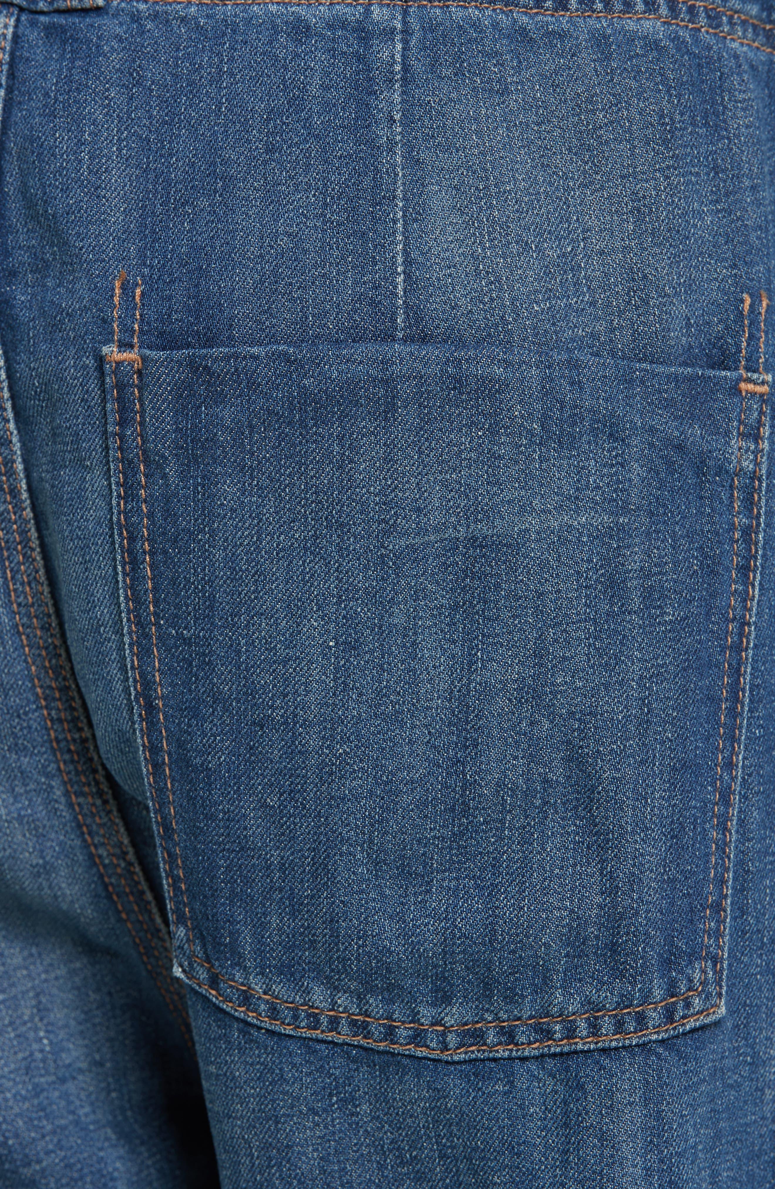 Alternate Image 5  - Vince Cotton & Linen Denim Drawstring Workwear Trousers