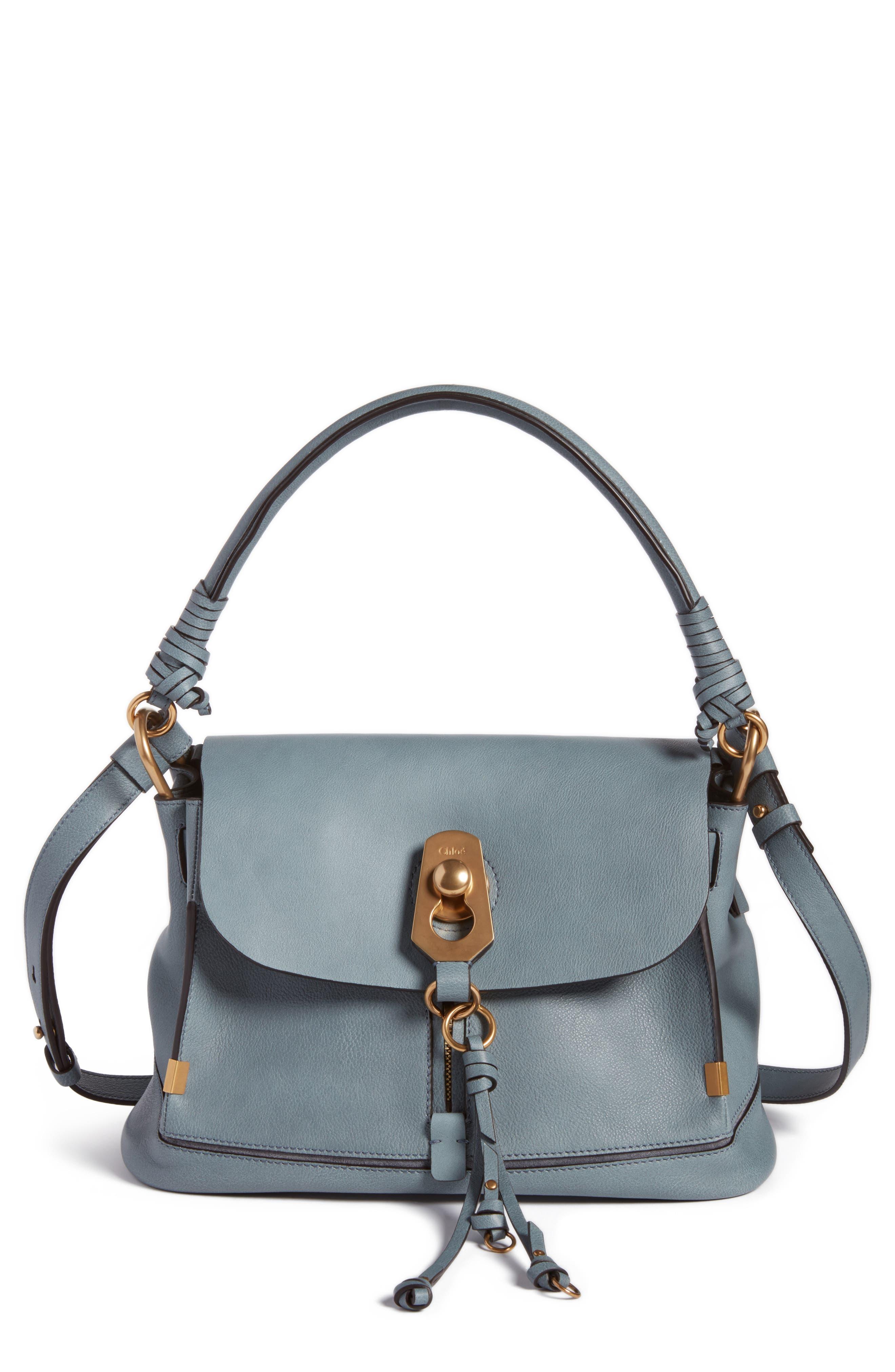 Chloé Small Owen Calfskin Leather Satchel