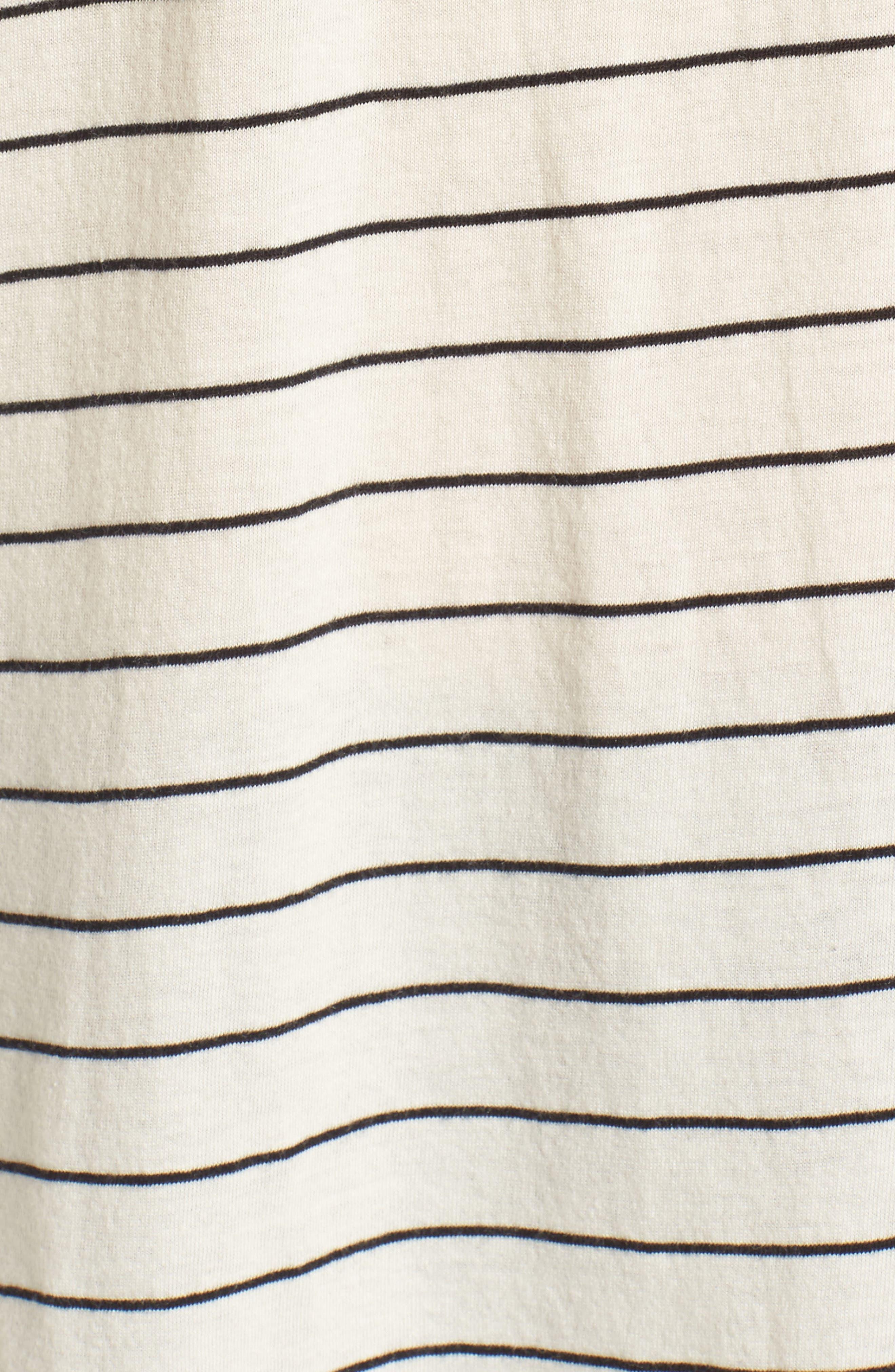 Side Slit Tee,                             Alternate thumbnail 5, color,                             Ivory Egret Joanie Stripe