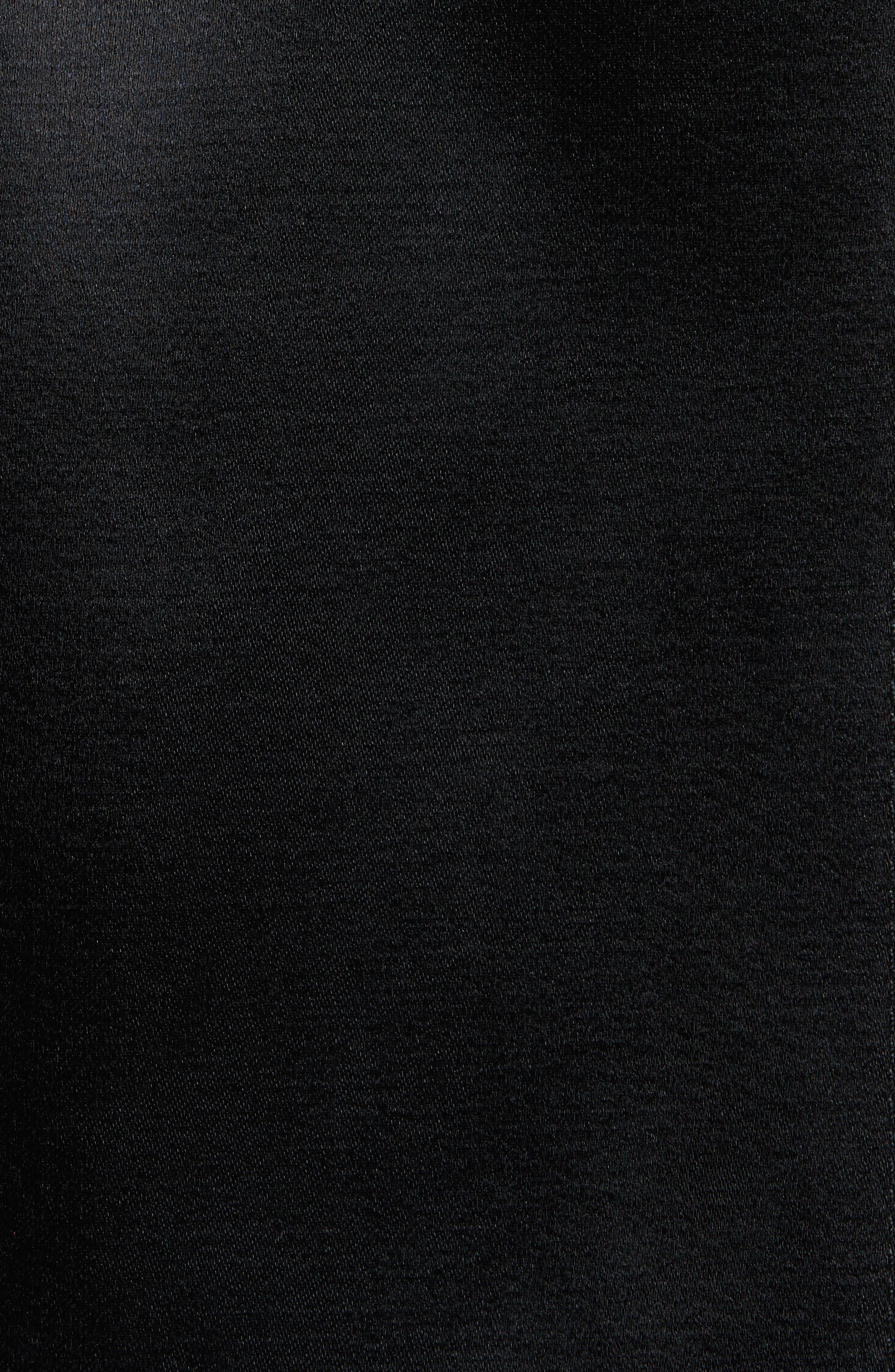 High Waist Flare Wrap Miniskirt,                             Alternate thumbnail 5, color,                             Black