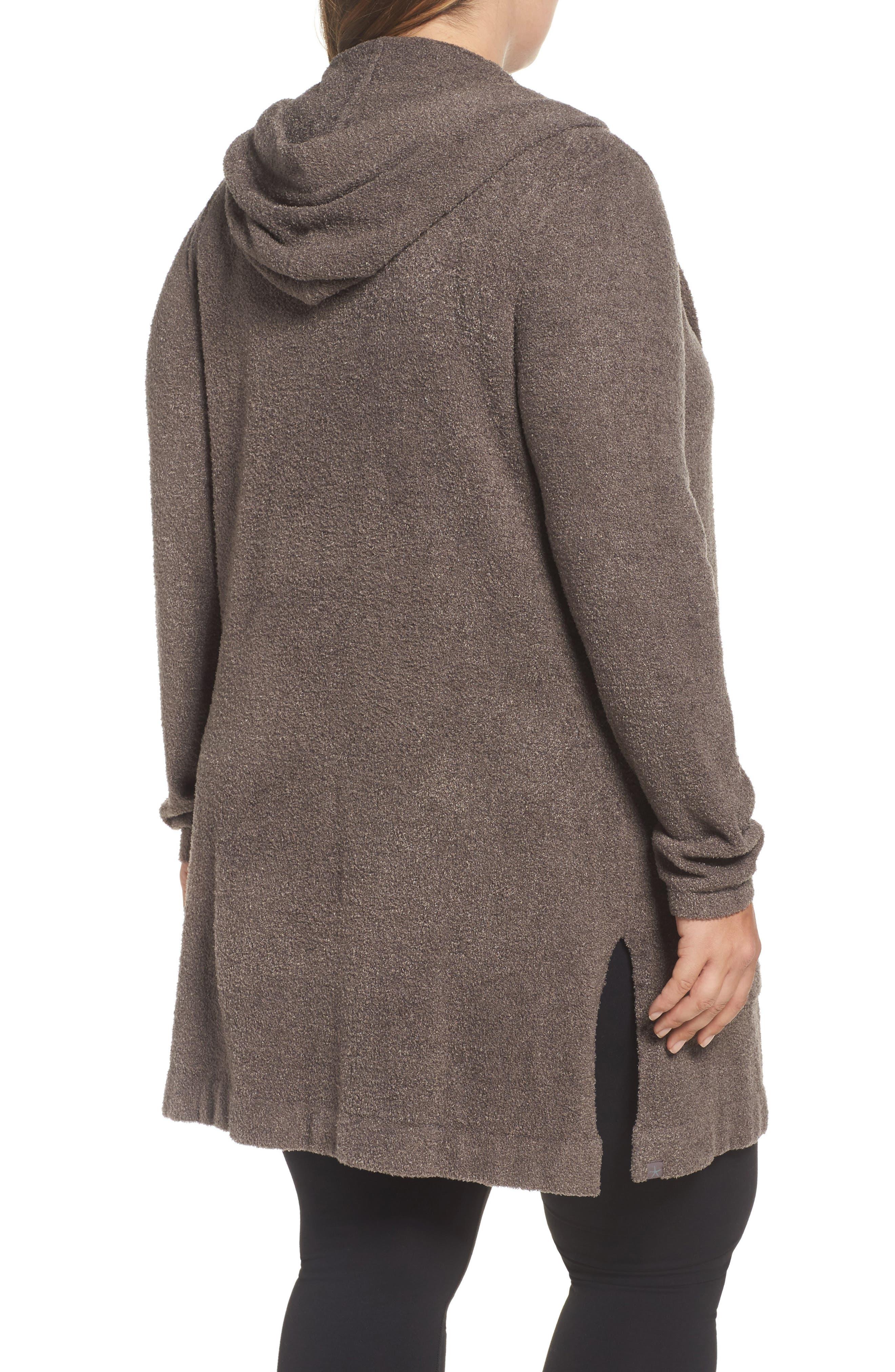 Alternate Image 2  - Barefoot Dreams® Cozychic Lite® Coastal Hooded Cardigan (Plus Size)