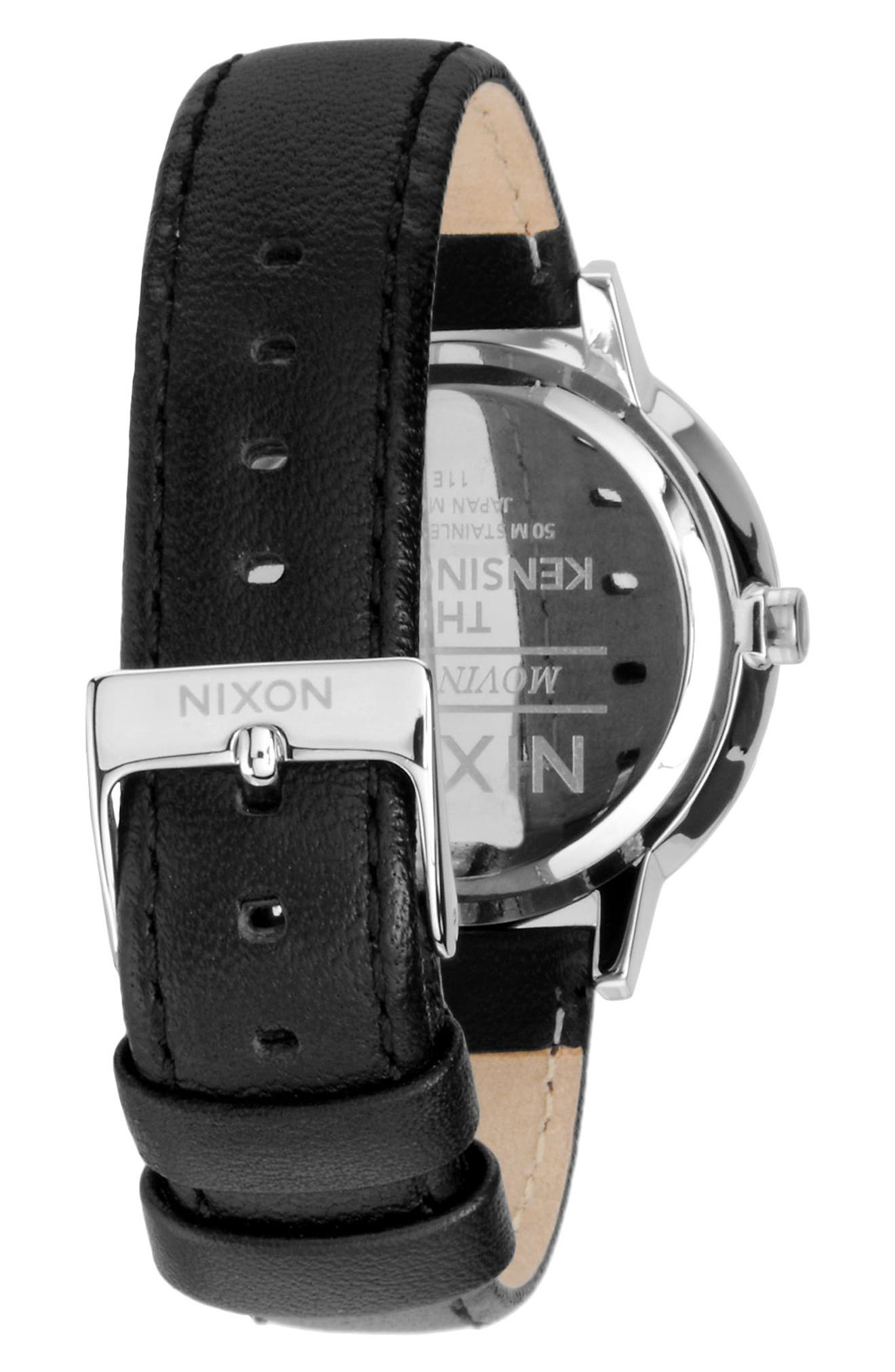 Alternate Image 2  - Nixon 'The Kensington' Leather Strap Watch, 37mm