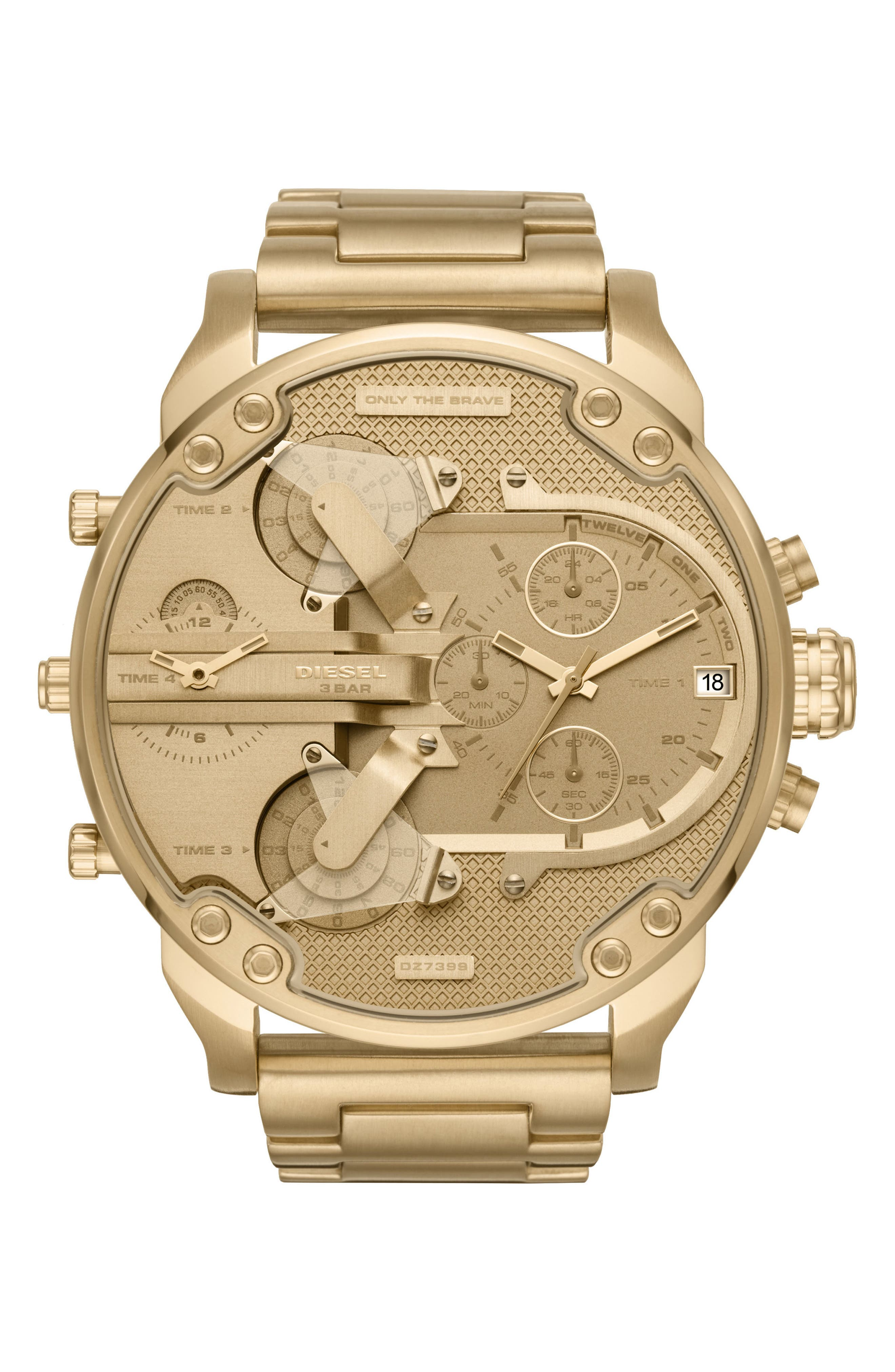 DIESEL<SUP>®</SUP> Mr. Daddy 2.0 Chronograph Bracelet Watch, 57mm