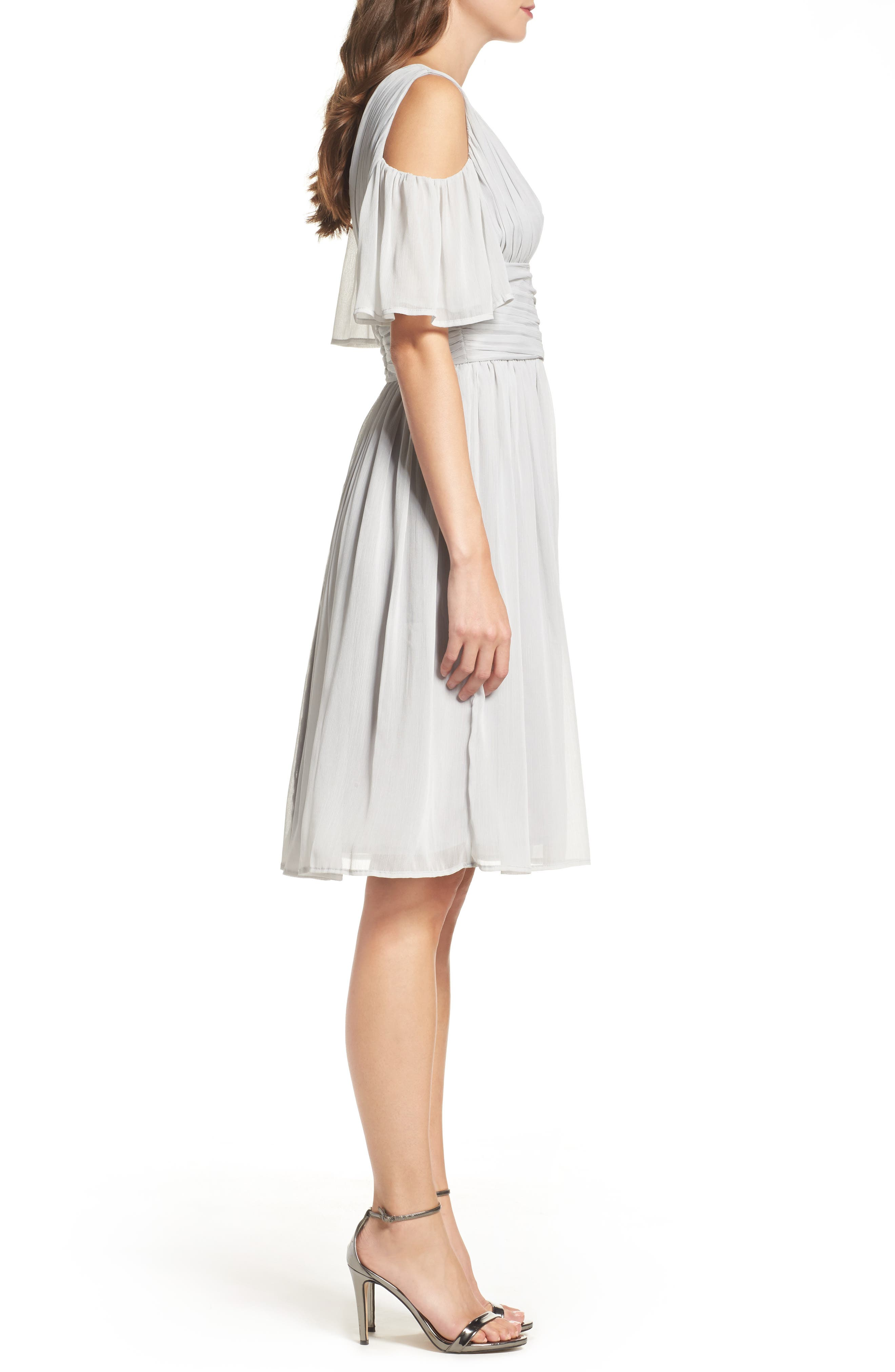 Alternate Image 3  - French Connection Chiffon Fit & Flare Dress