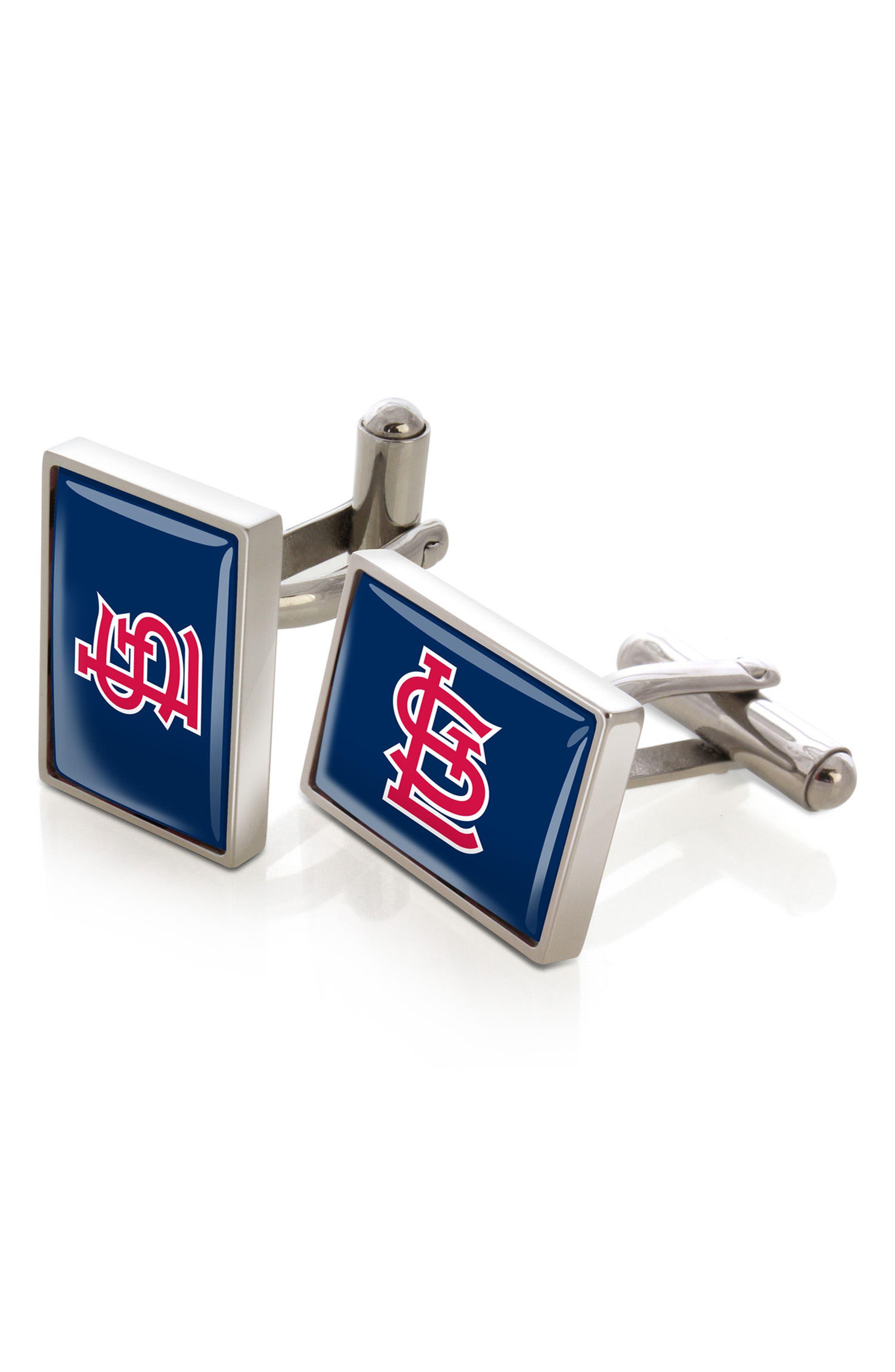 M-Clip MLB Cuff Links,                         Main,                         color, St. Louis Cardinals
