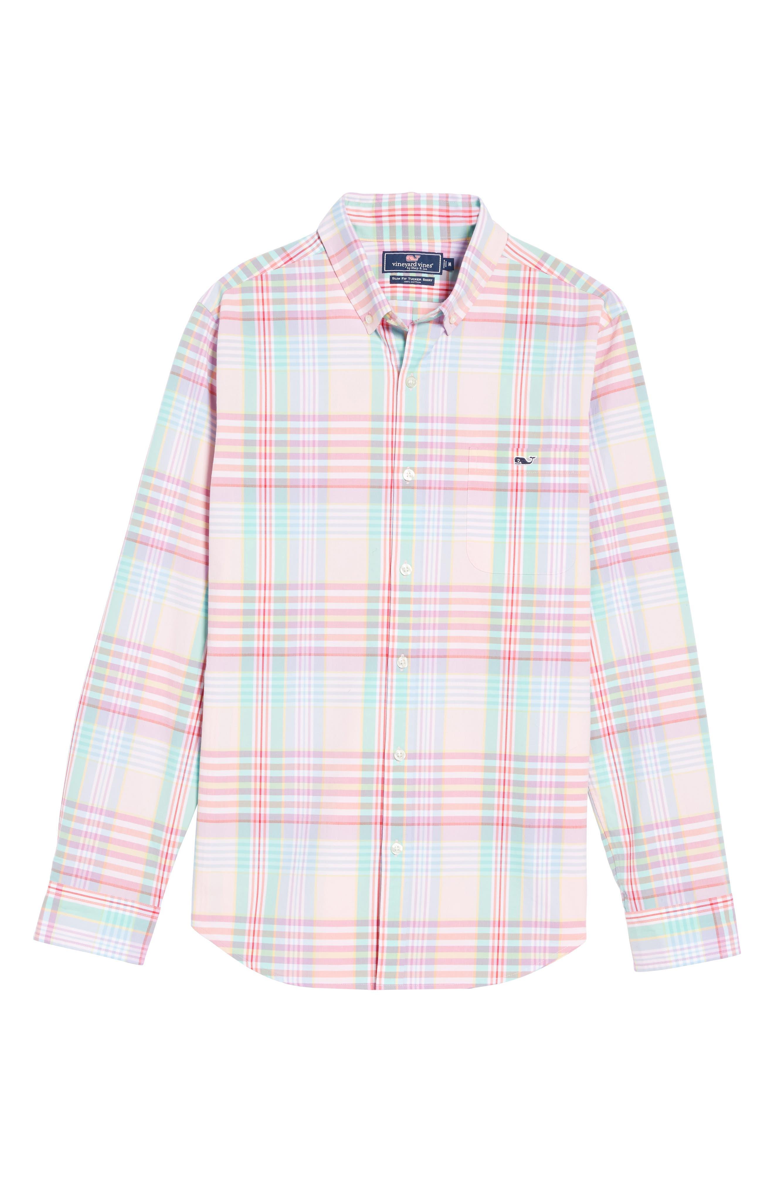 Alternate Image 6  - Vineyard Vines Slim Fit Tucker Plaid Sport Shirt