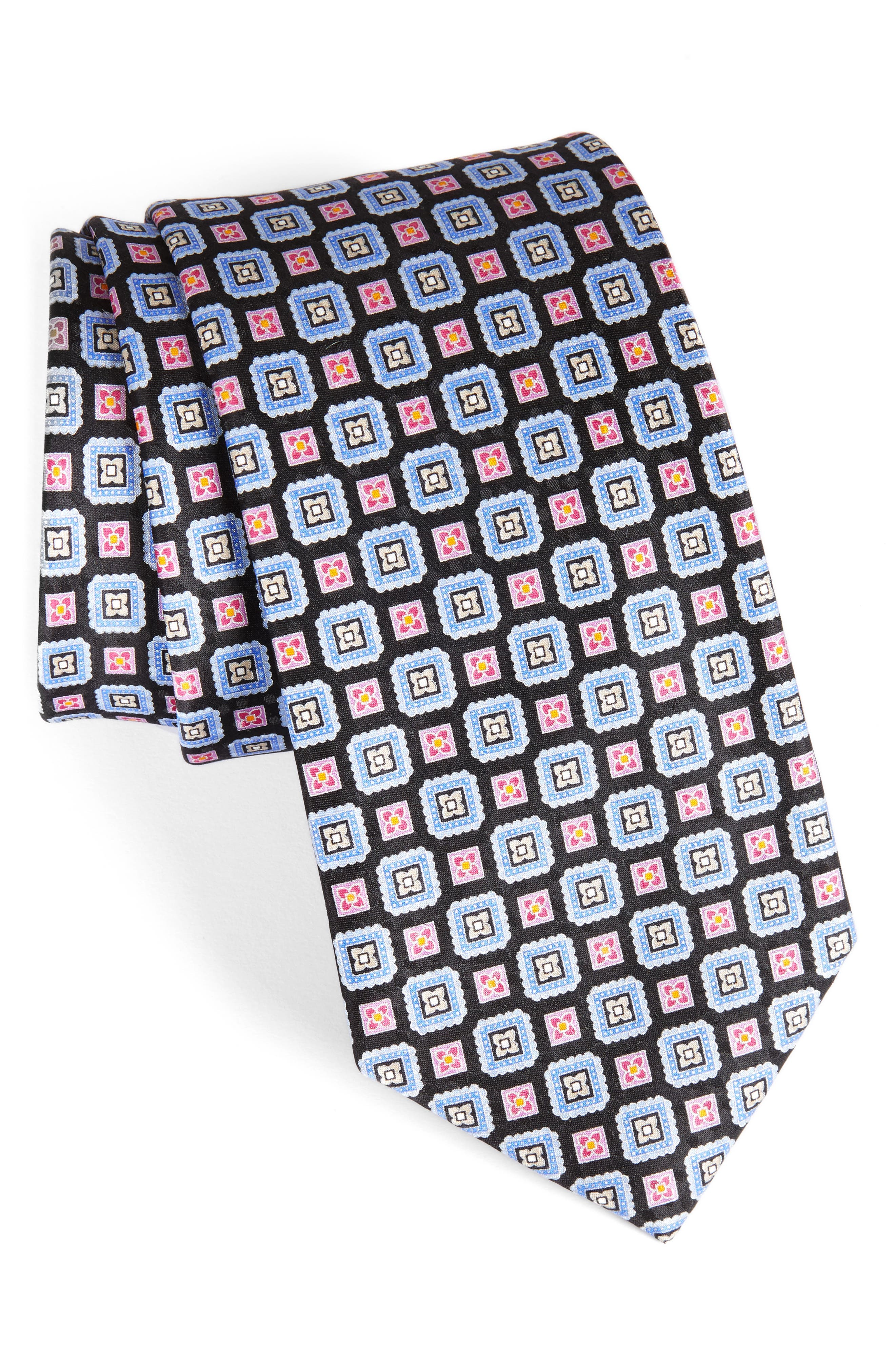 NORDSTROM MENS SHOP Medallion Silk Tie