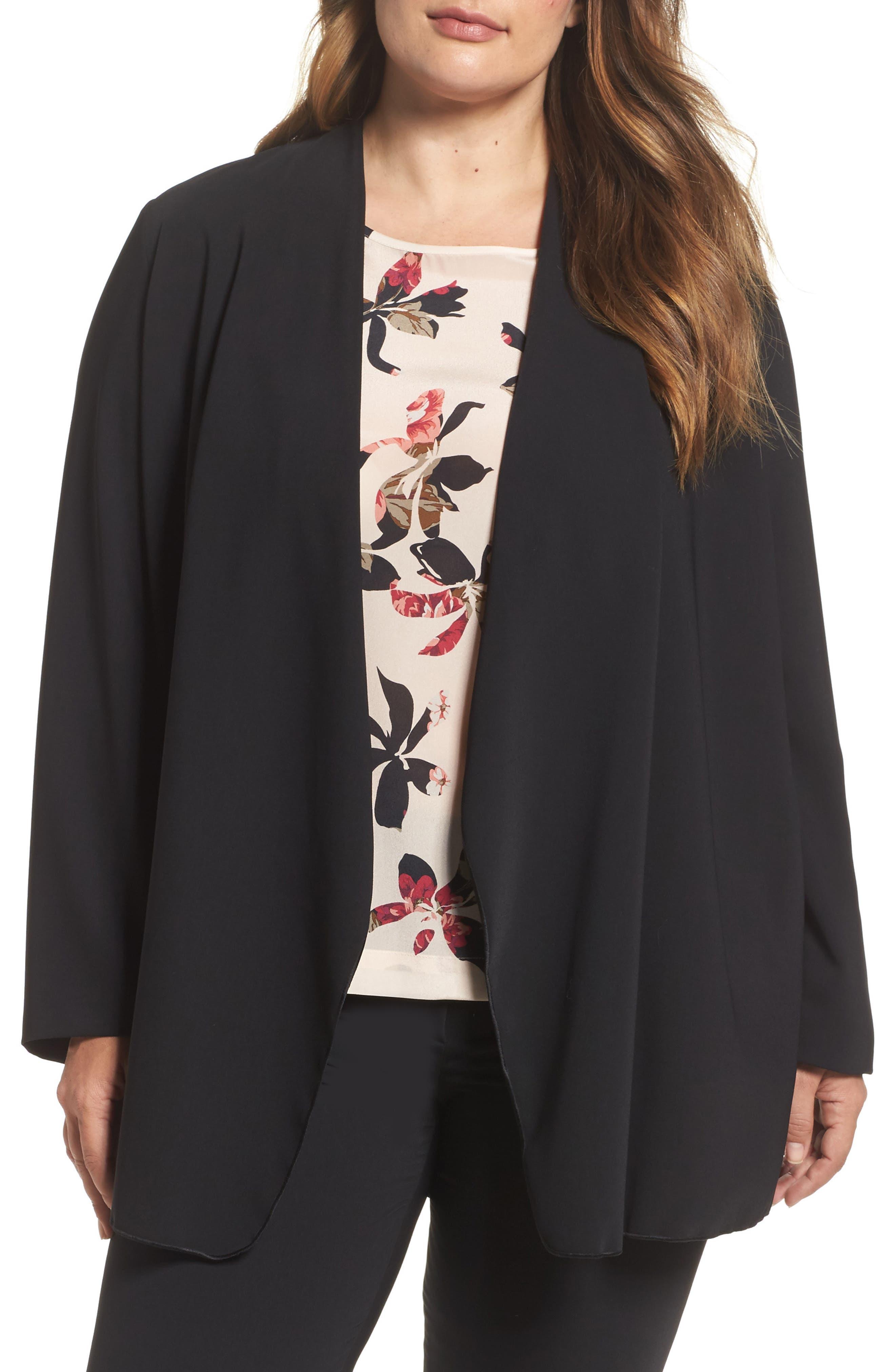 PERSONA BY MARINA RINALDI Drape Front Jacket