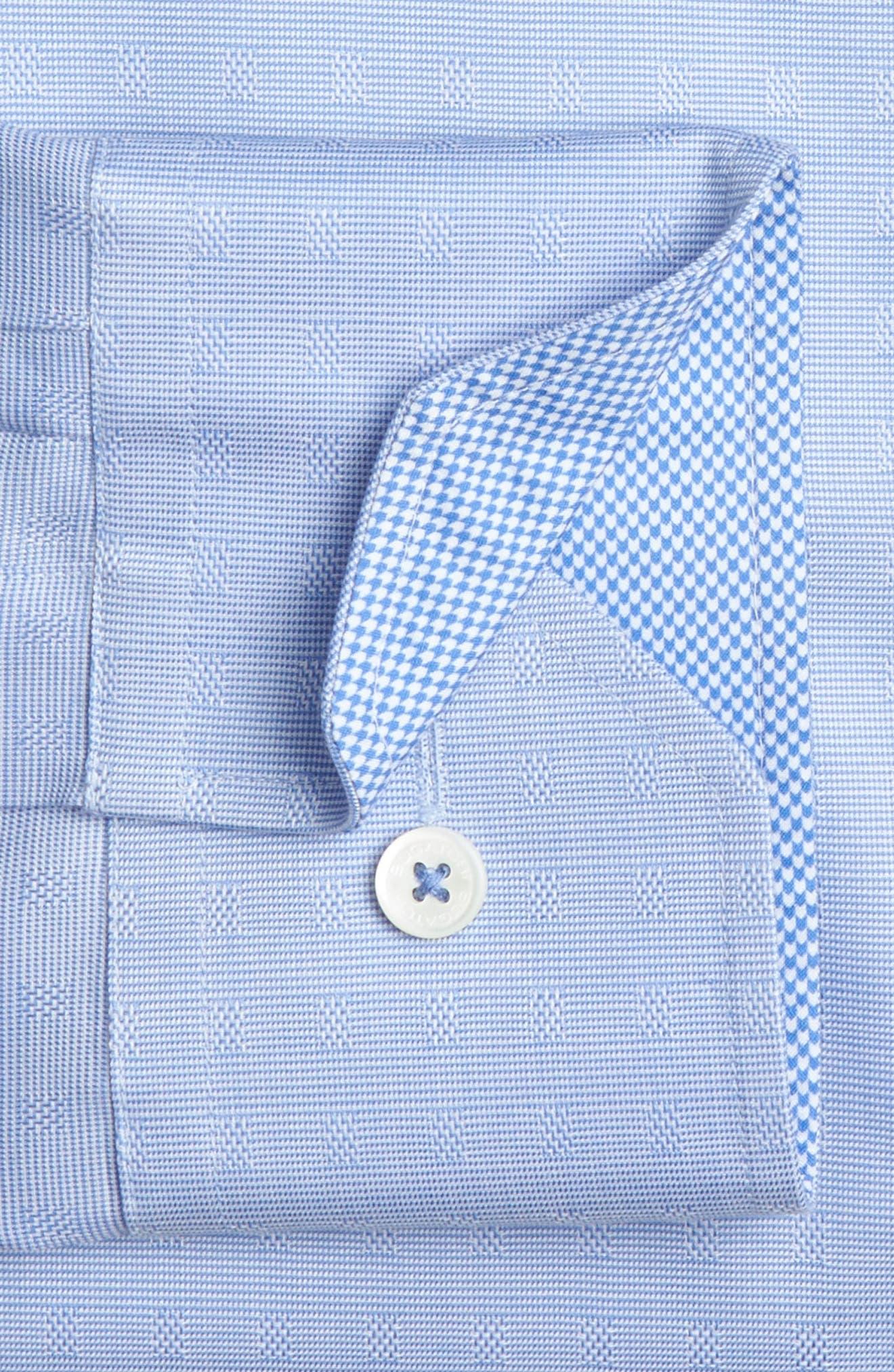 Trim Fit Solid Dress Shirt,                             Alternate thumbnail 2, color,                             Classic Blue