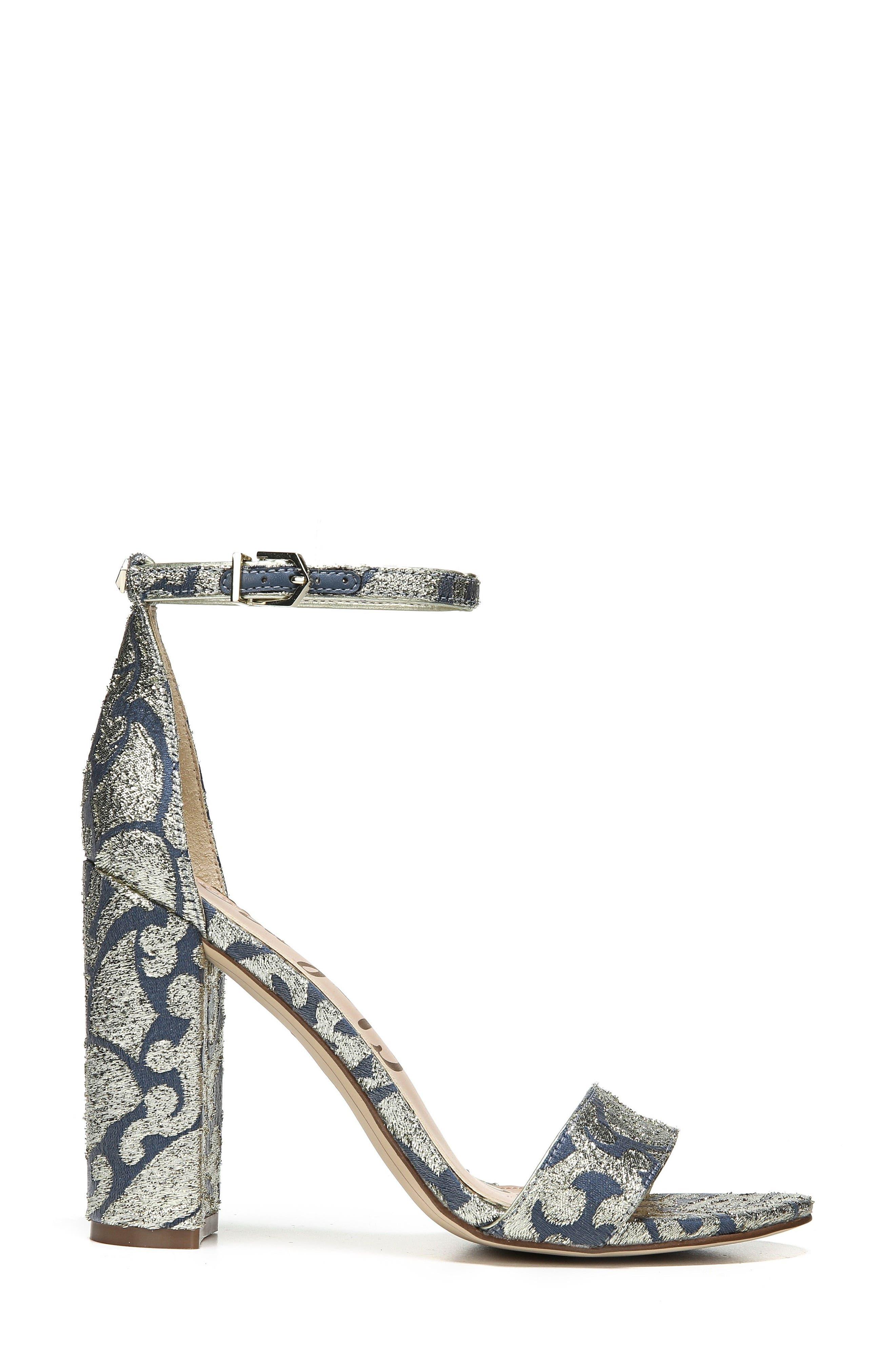 Yaro Ankle Strap Sandal,                             Alternate thumbnail 3, color,                             Blue Multi Canvas