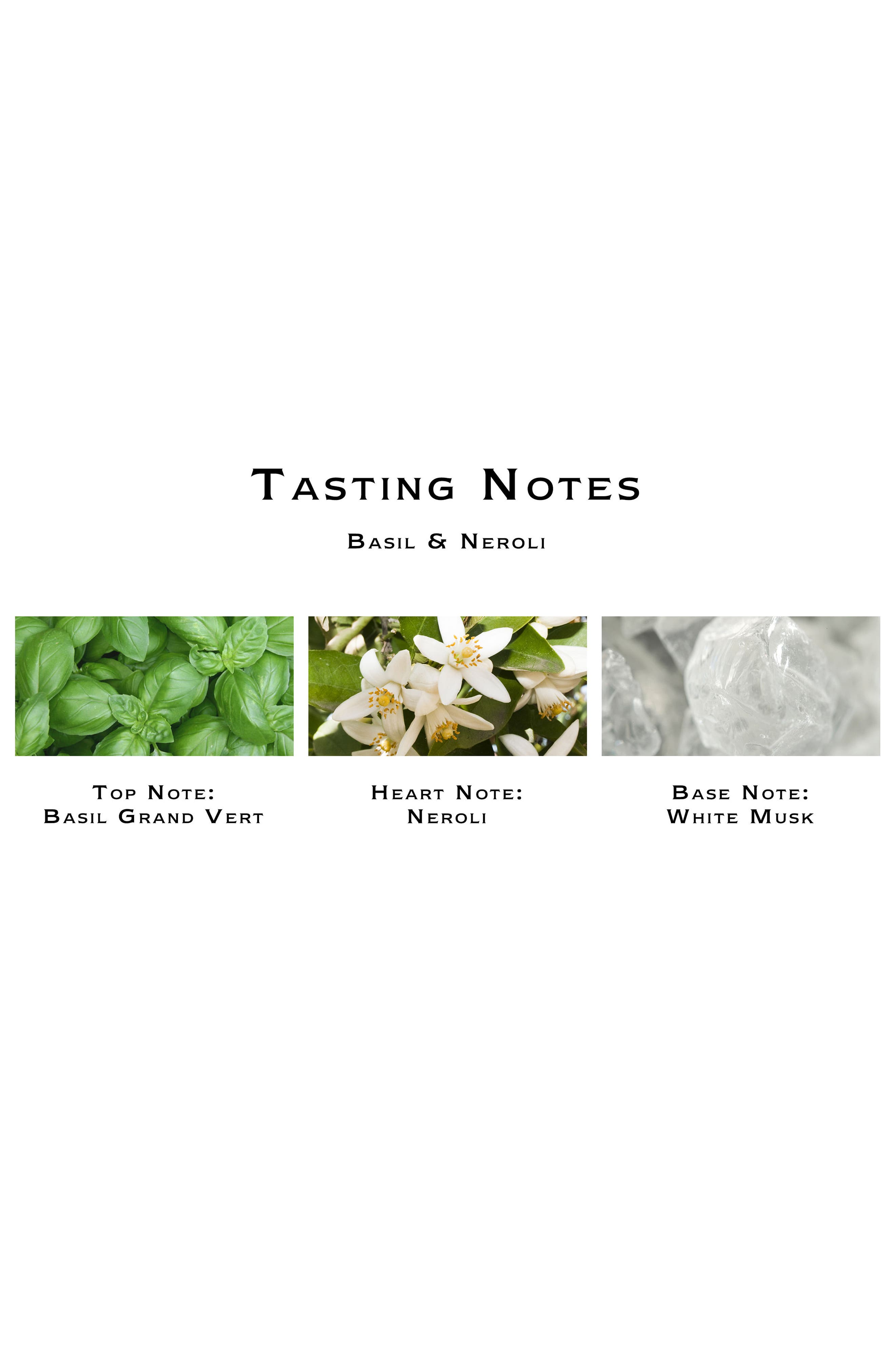Jo Malone<sup>™</sup> Basil & Neroli Candle,                             Alternate thumbnail 2, color,                             No Color