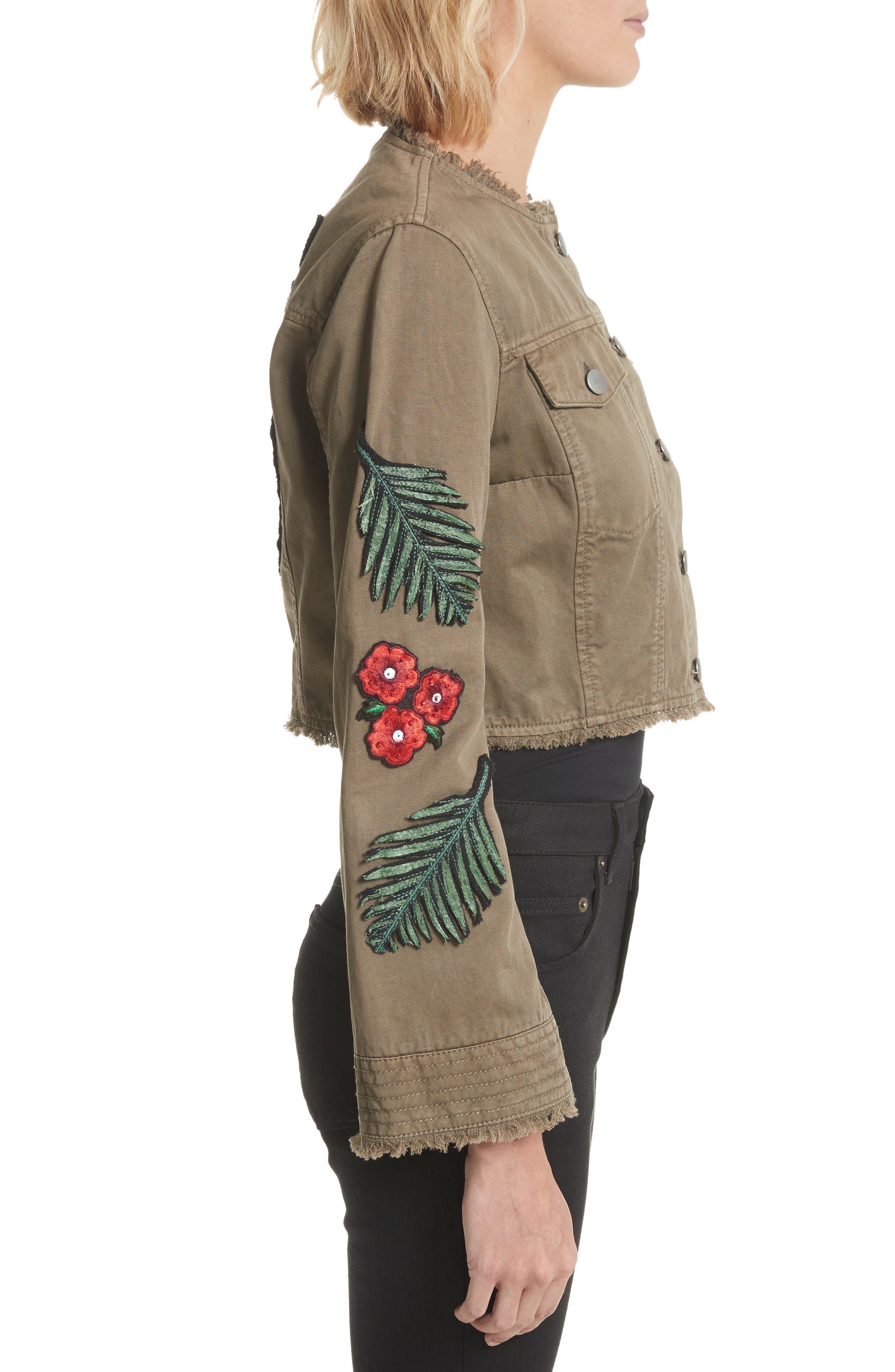 Alternate Image 3  - Cinq à Sept Halina Embellished Crop Jacket