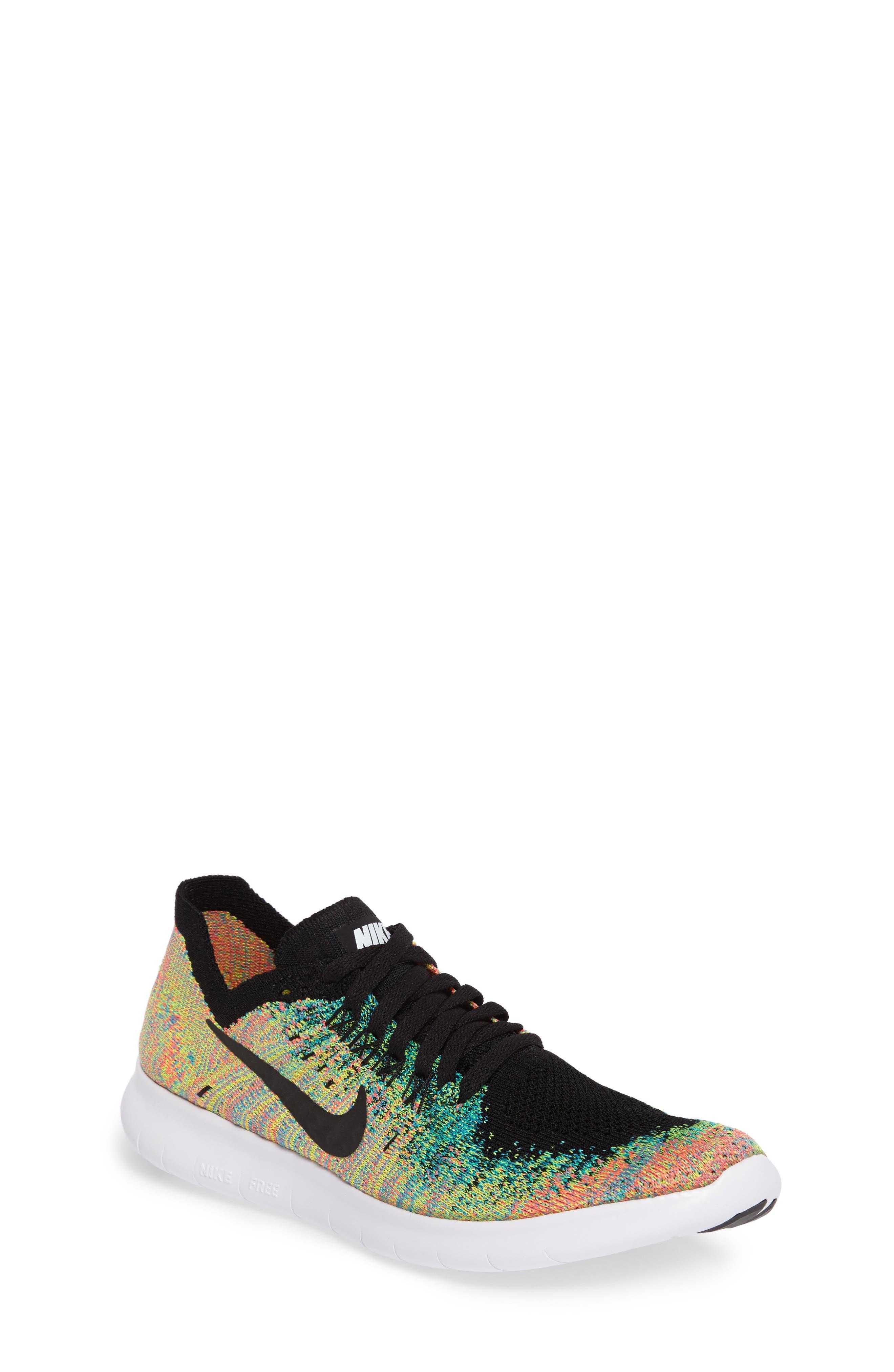 Main Image - Nike Free RN Flyknit 2017 Running Shoe (Big Kid)