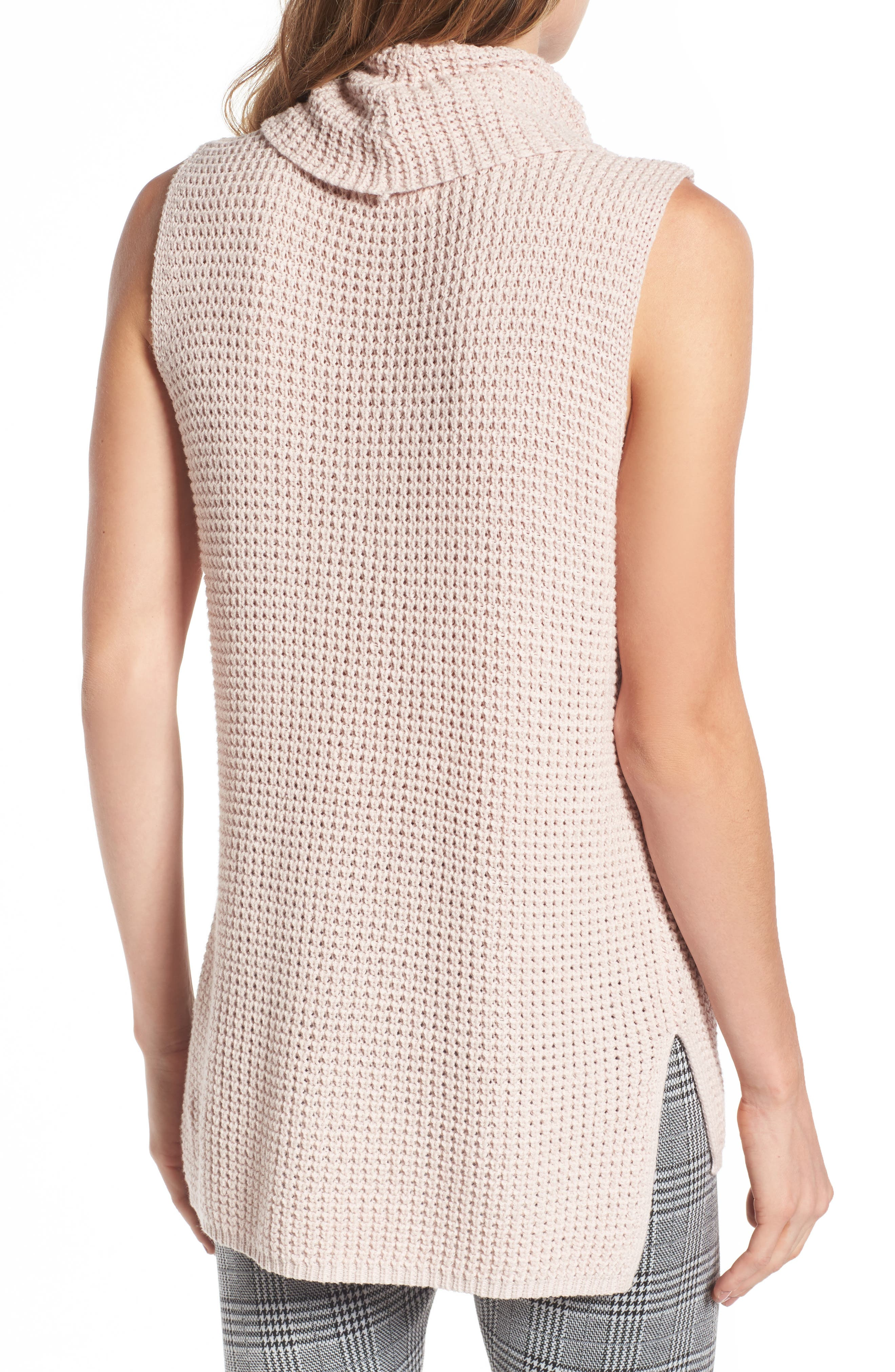 Alternate Image 3  - Two by Vince Camuto Waffle Stitch Vest (Regular & Petite)