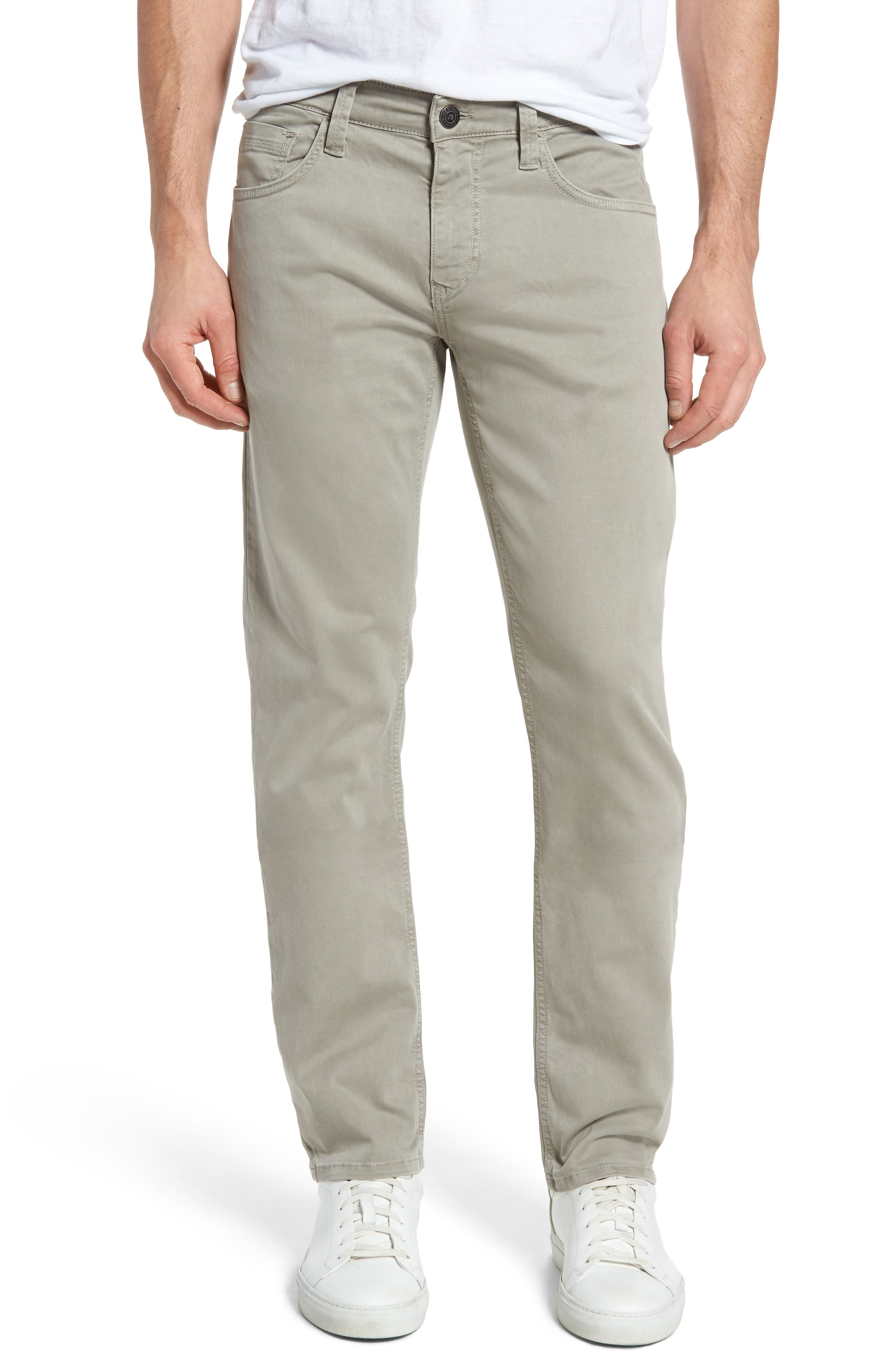Mavi Jeans Zach Straight Leg Pants (Grey Twill)