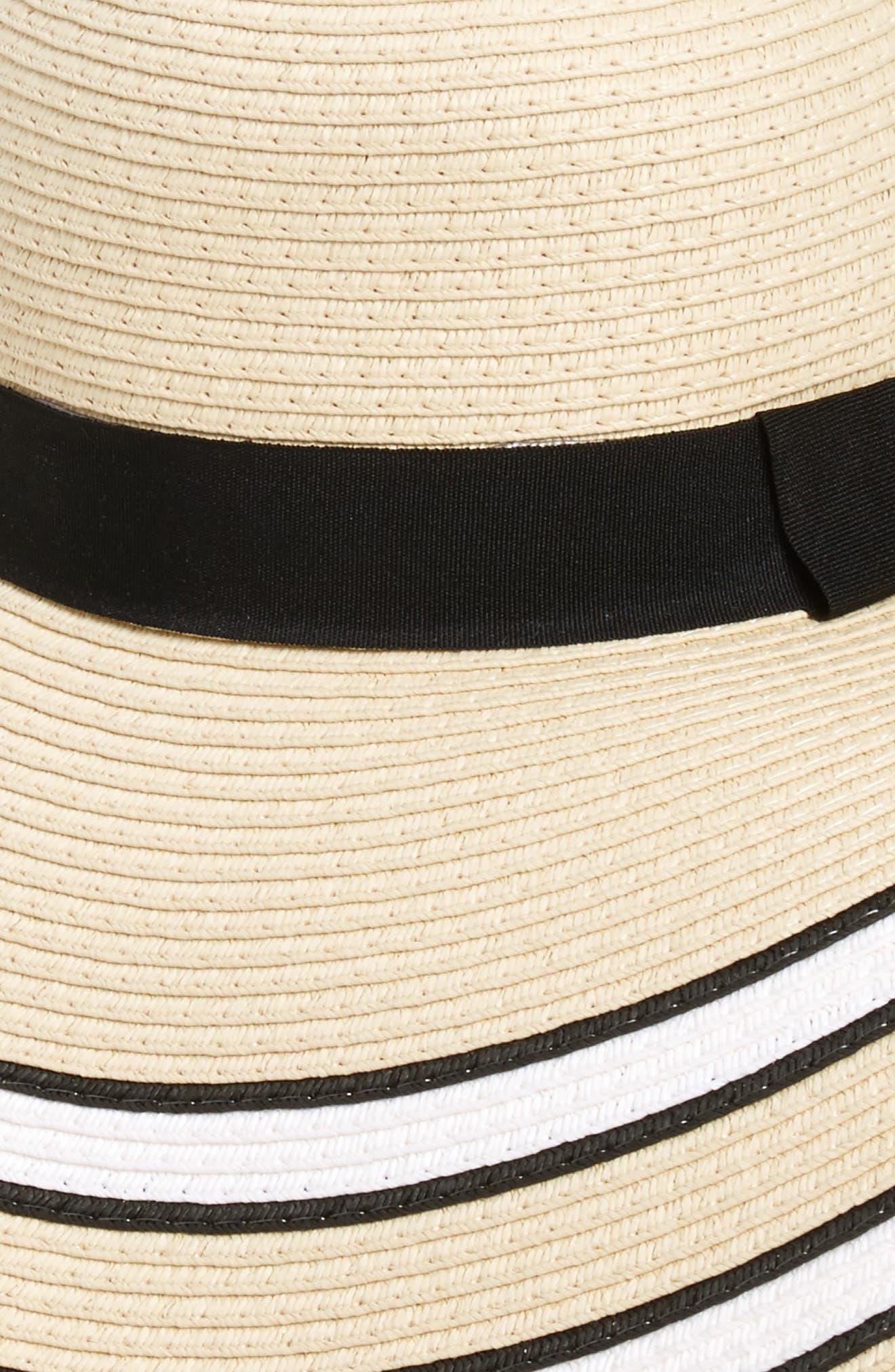 Alternate Image 2  - BP. Stripe Floppy Brim Straw Hat