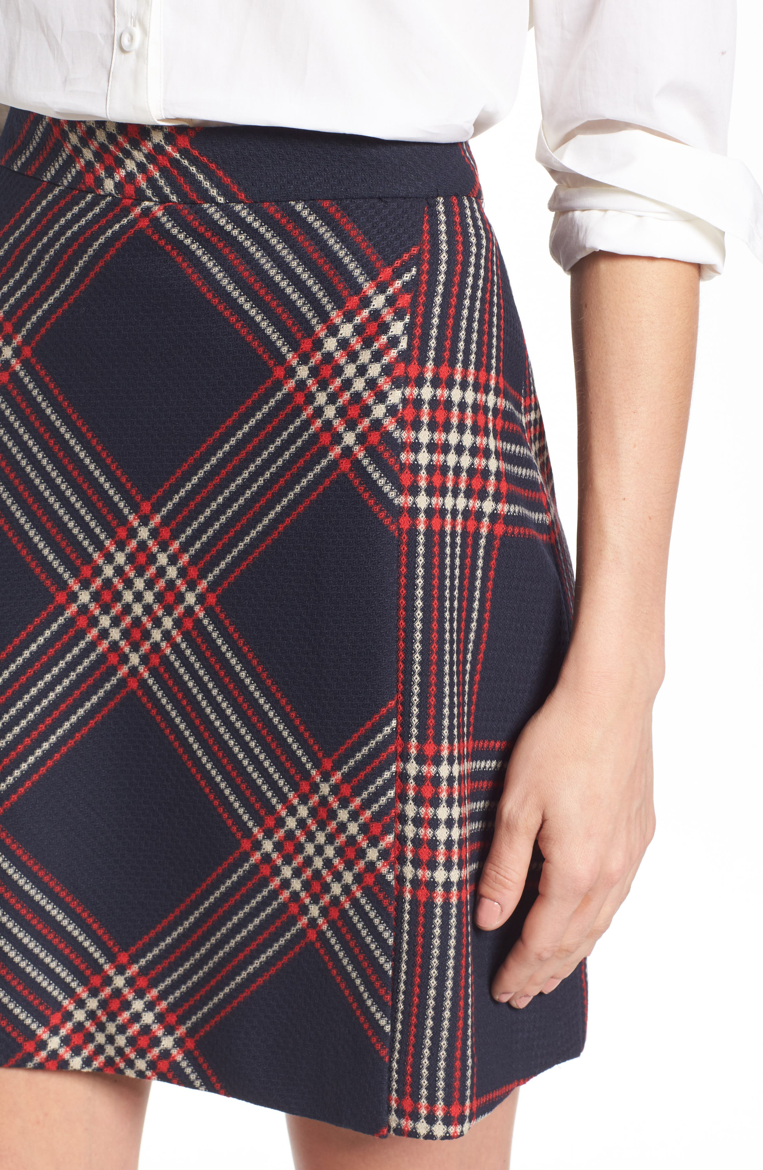 Alternate Image 5  - Halogen® Plaid Miniskirt (Regular & Petite)