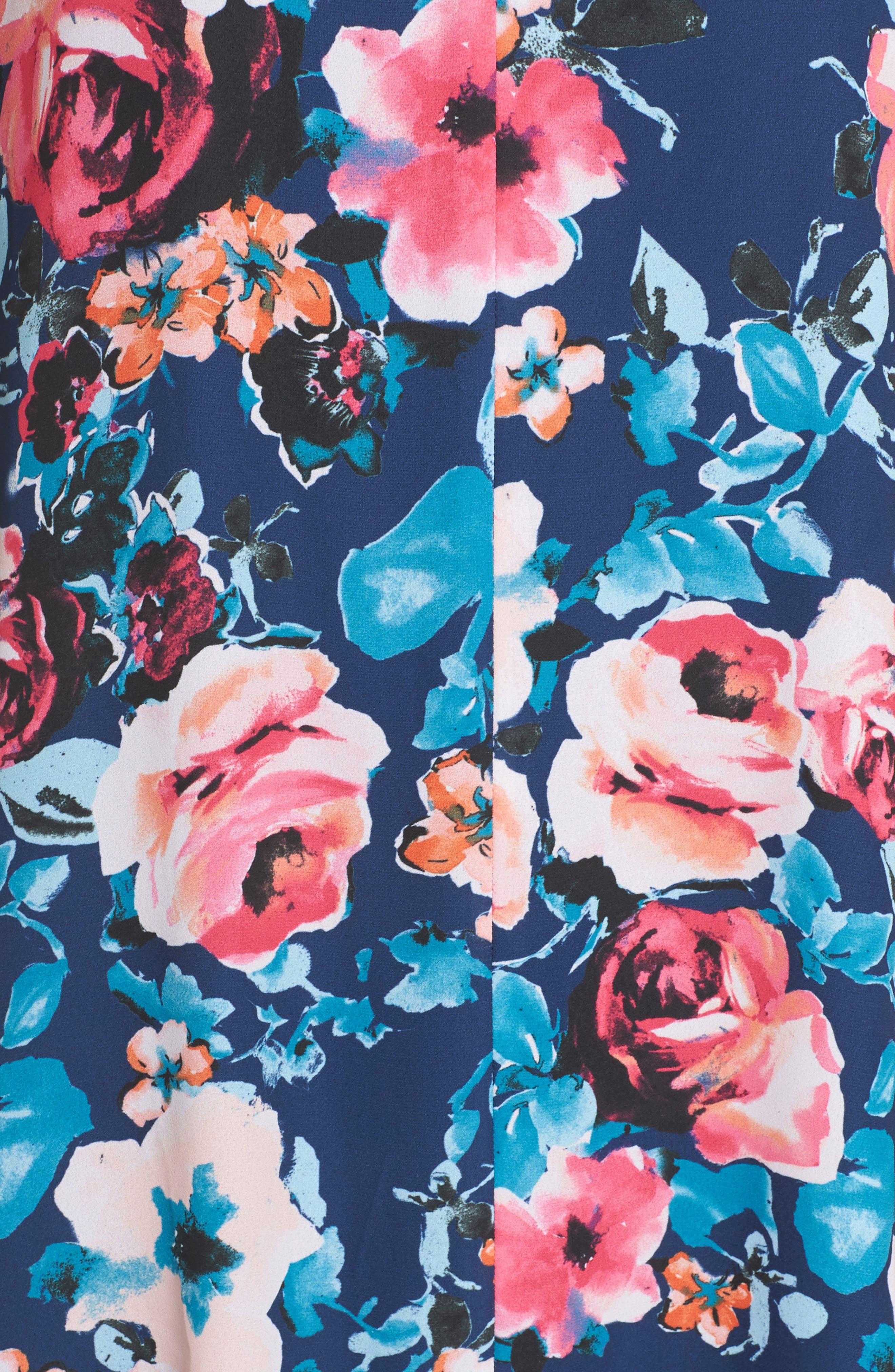 Alternate Image 6  - Charles Henry Floral Shirtdress (Regular & Petite)