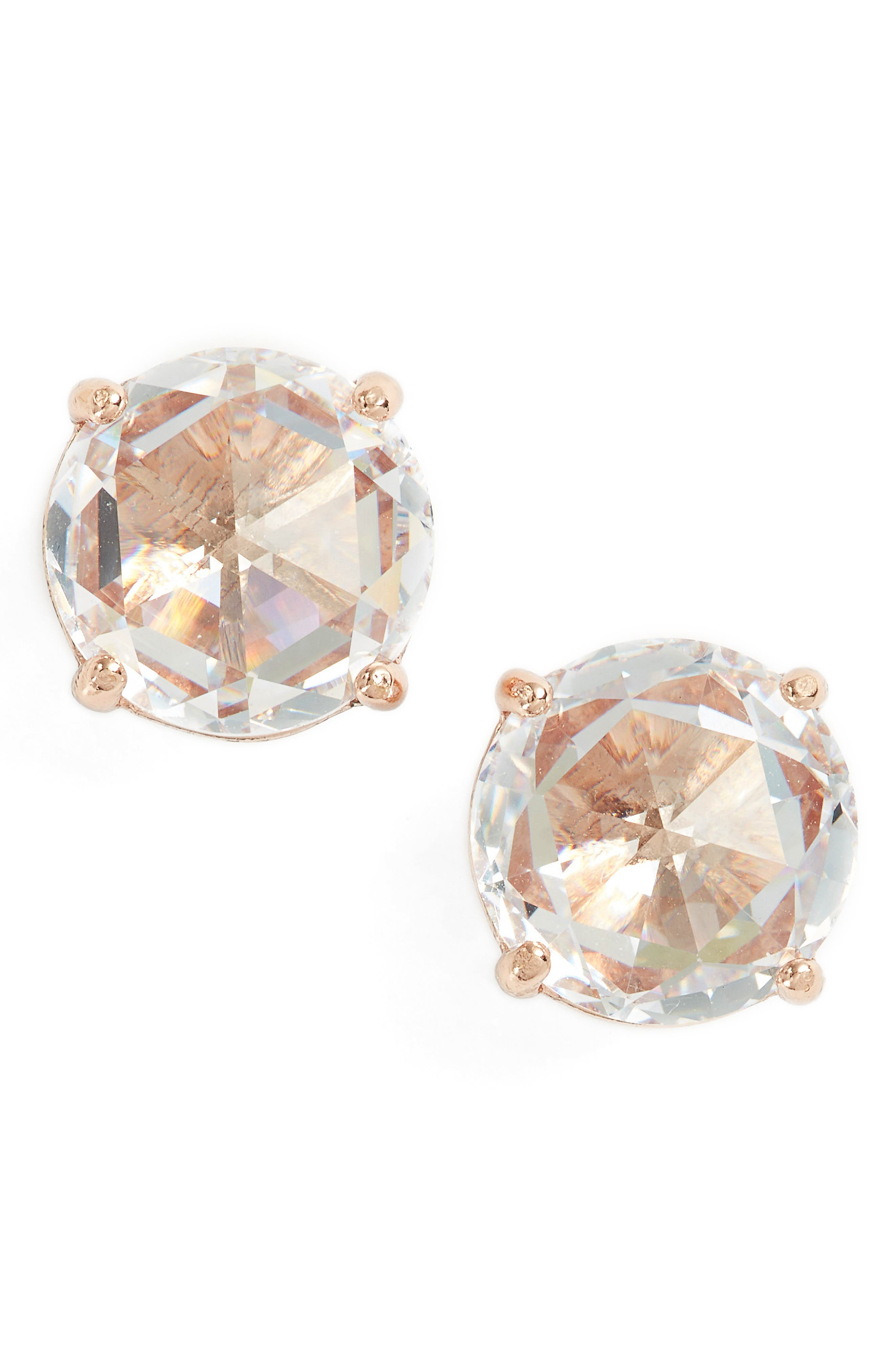 bright idea stud earrings,                         Main,                         color, Clear/ Rose