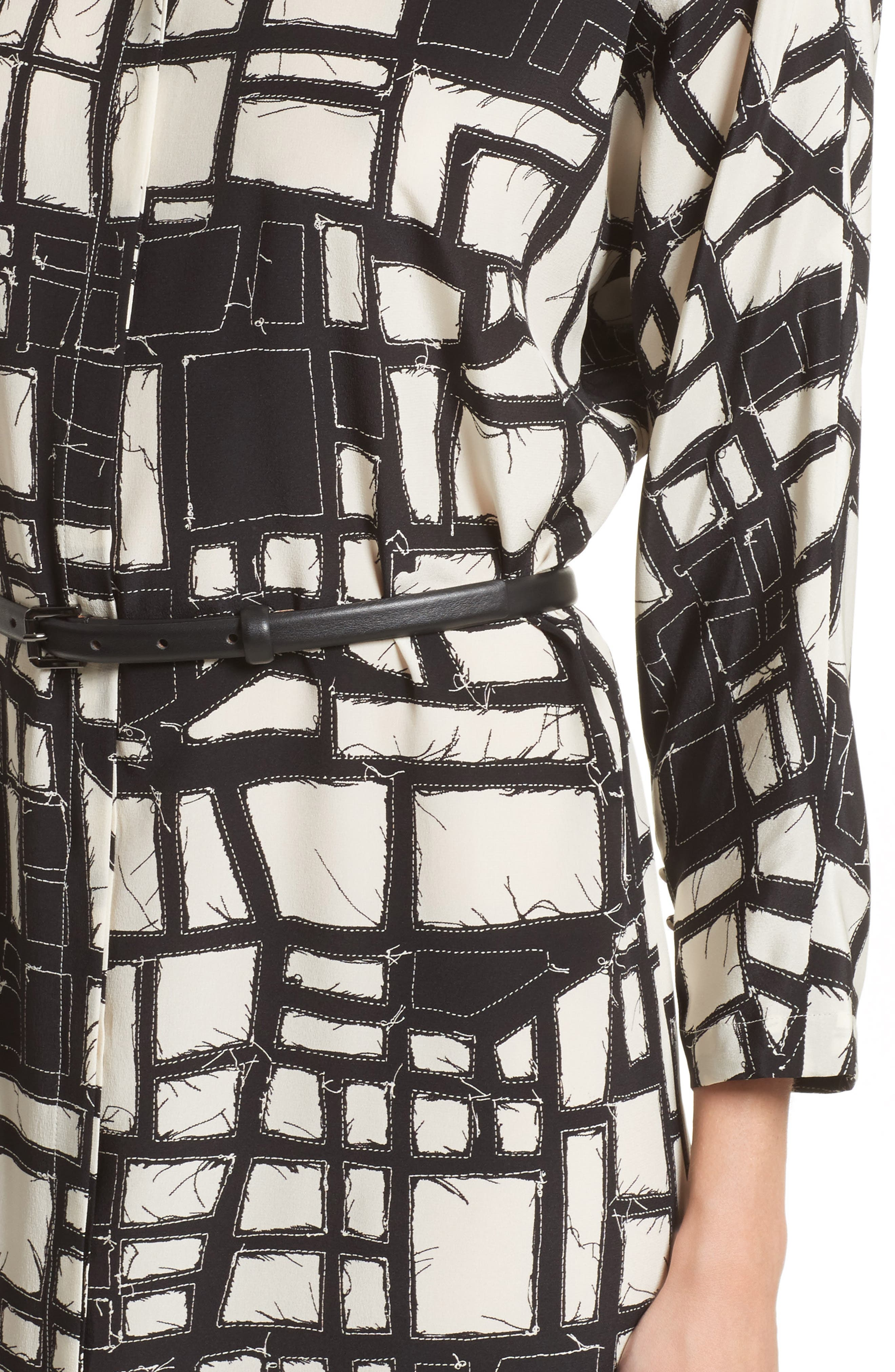 Alternate Image 6  - Max Mara Aligi Print Silk Dress