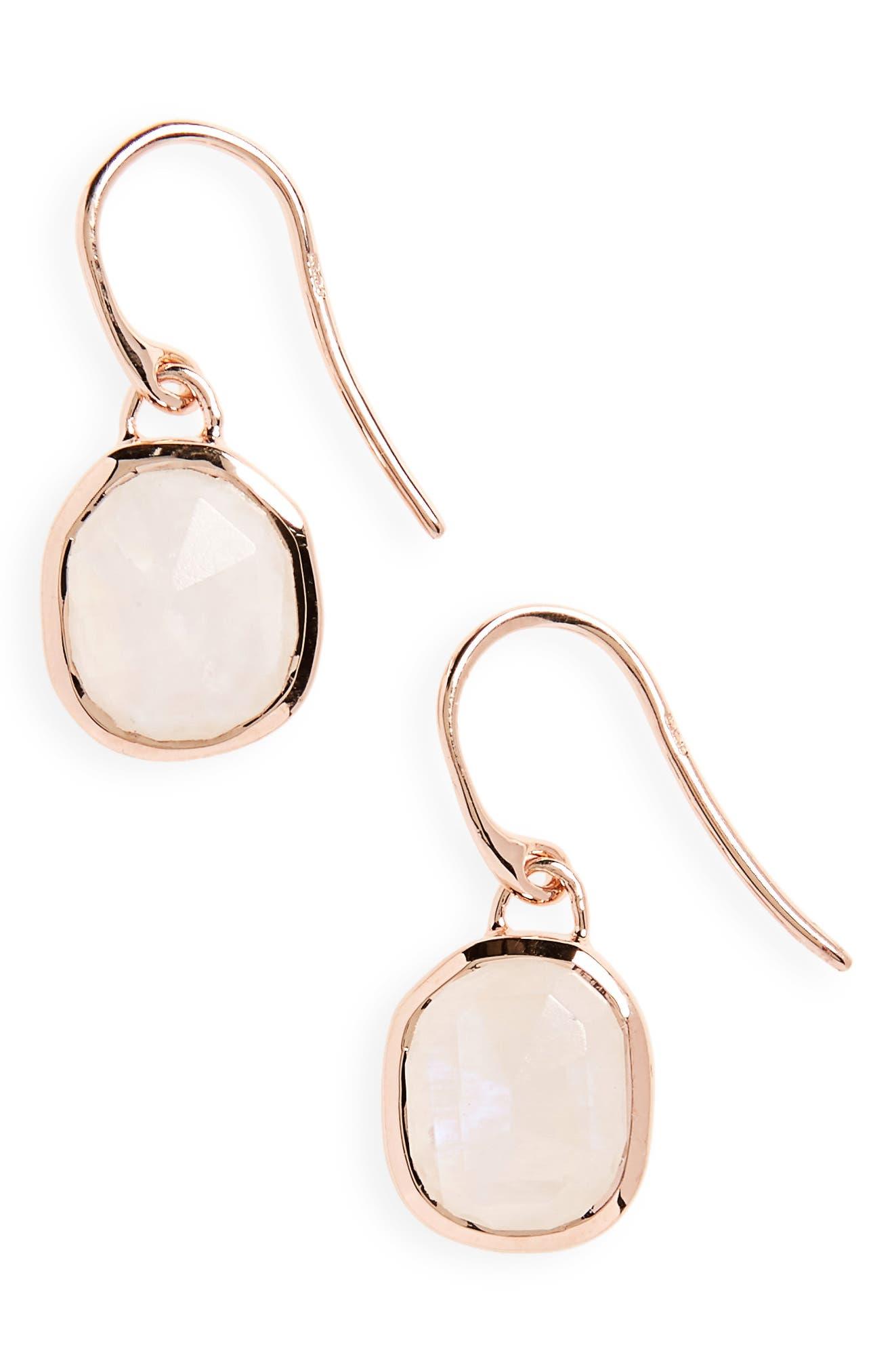 Alternate Image 1 Selected - Monica Vinader Siren Semiprecious Stone Drop Earrings