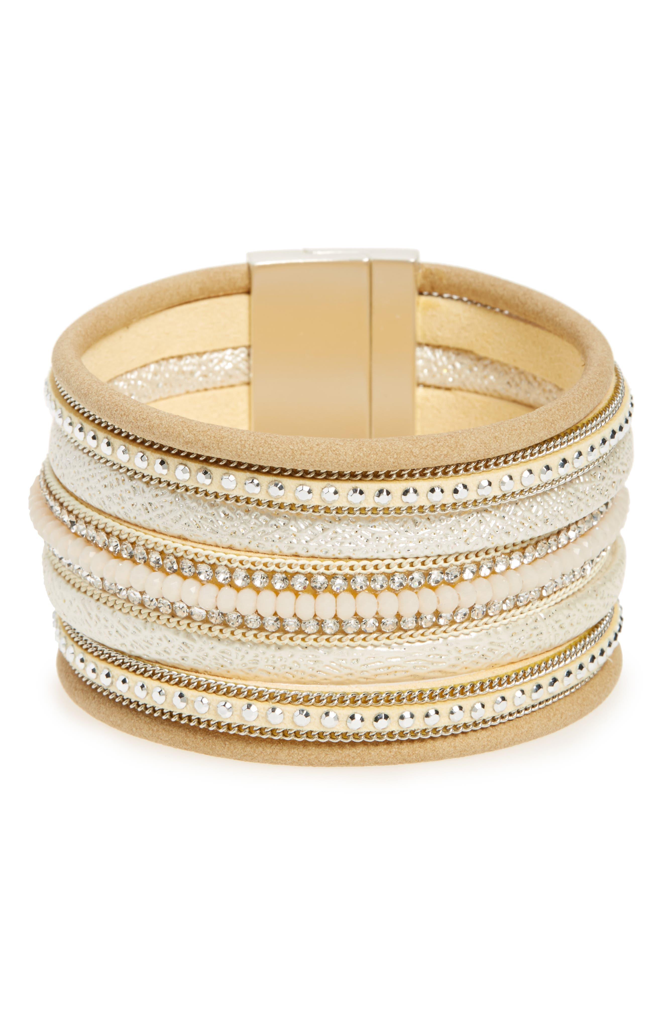 Multirow Bracelet,                         Main,                         color, Brown/ Multi