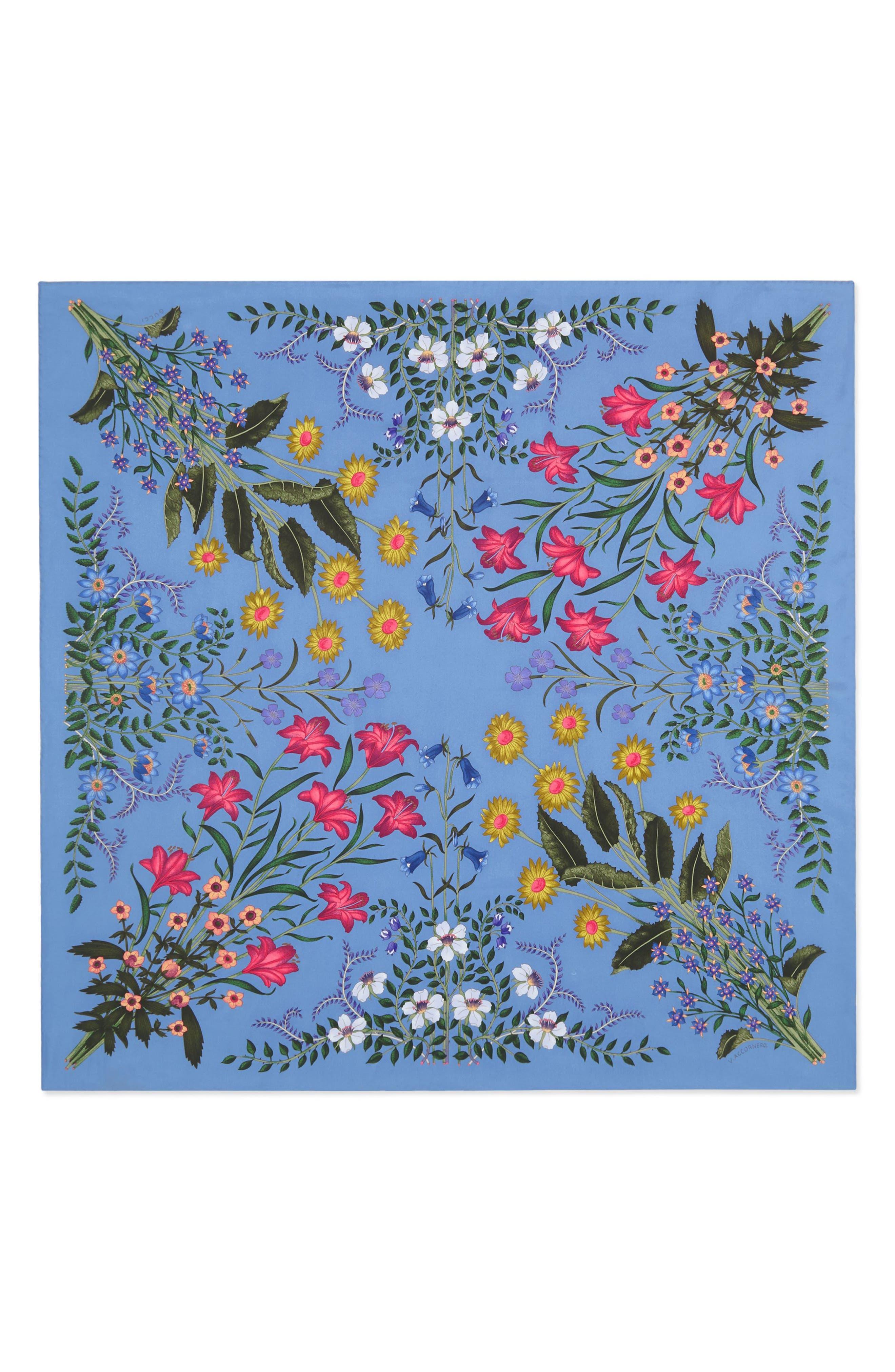Gucci New Flora Foulard Scarf