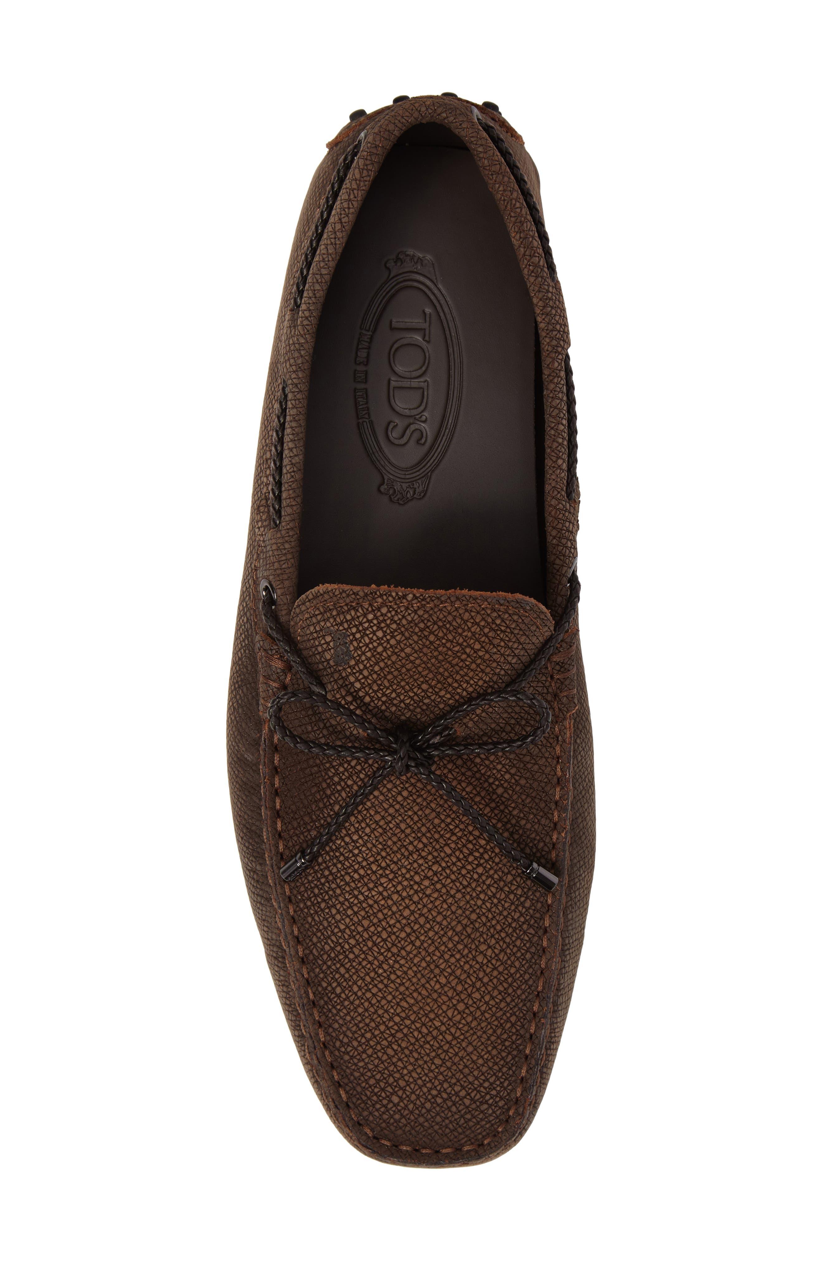 Alternate Image 5  - Tod's Gommin Textured Driving Shoe (Men)