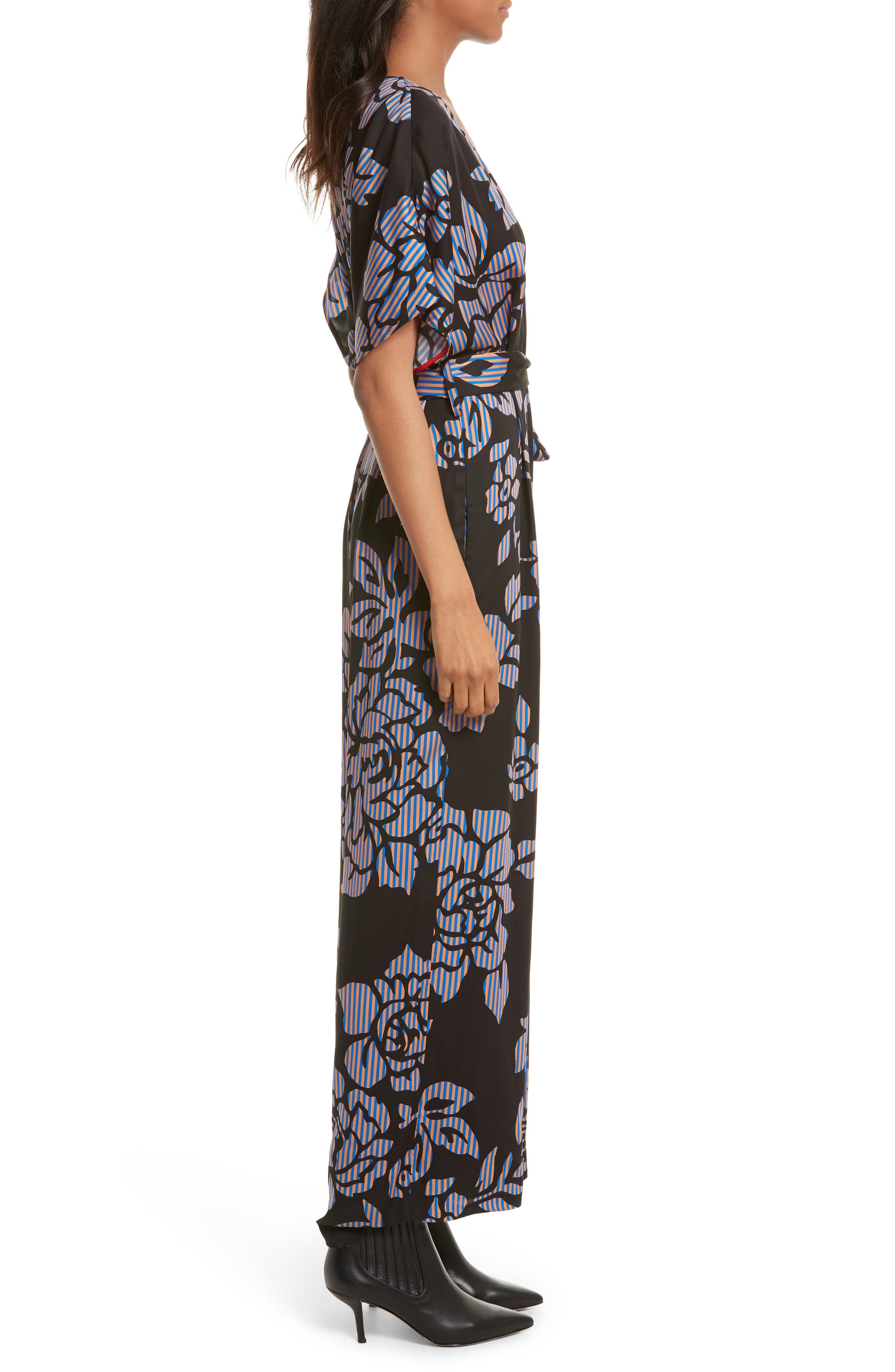 Alternate Image 3  - Diane von Furstenberg Tie Front Print Jumpsuit