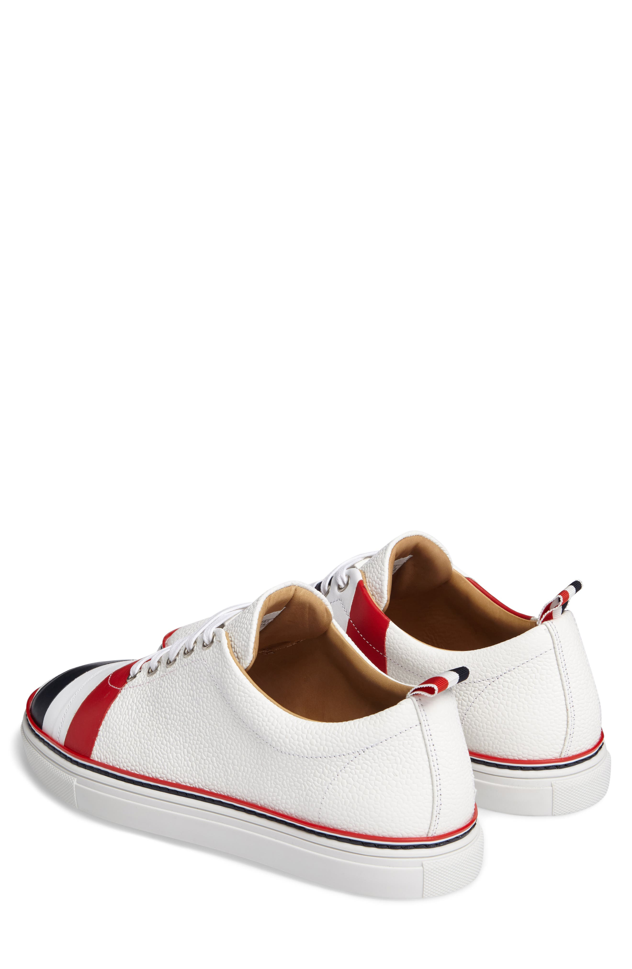 Asymmetrical Stripe Sneaker,                             Alternate thumbnail 2, color,                             100 White