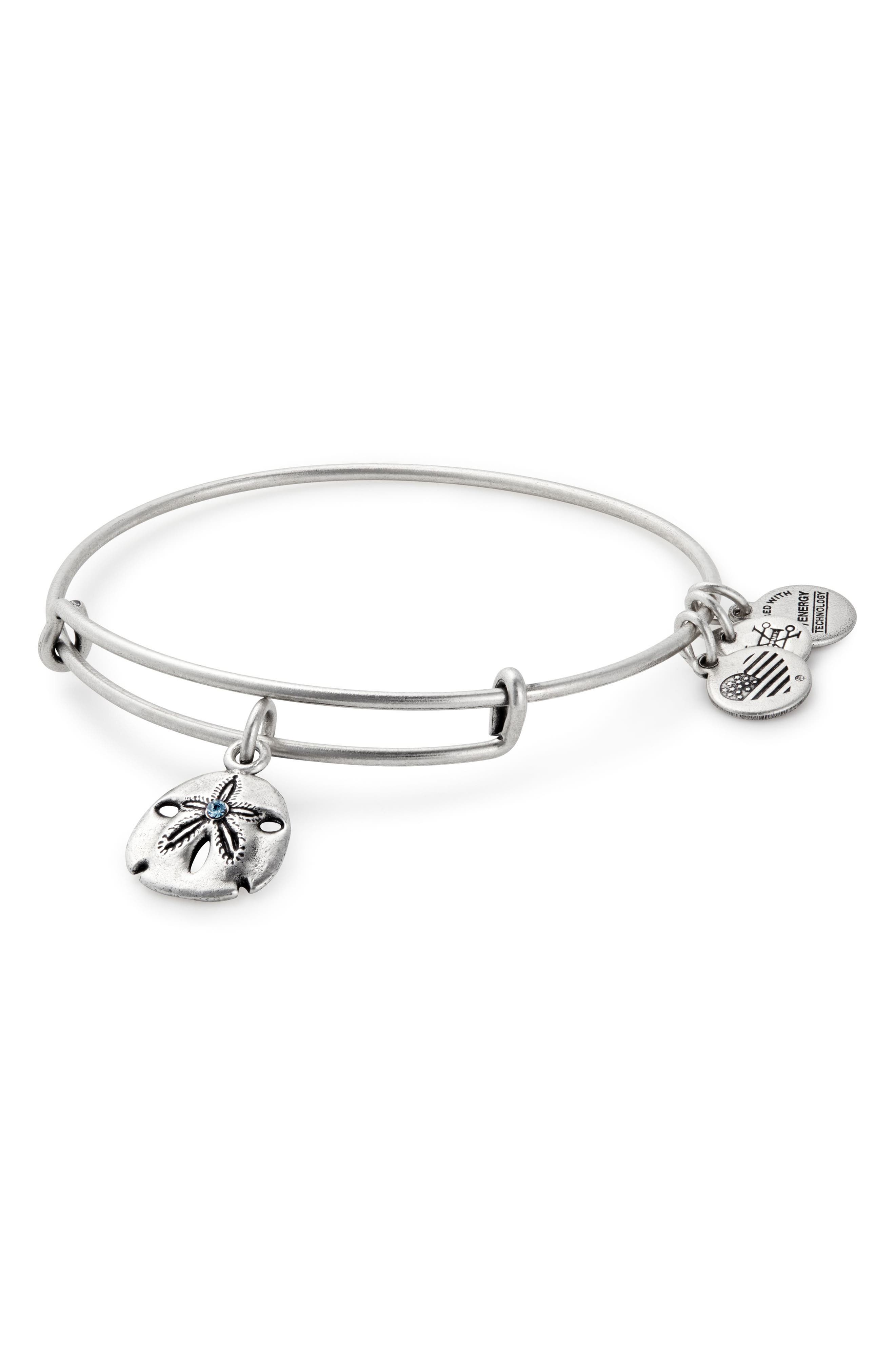 ALEX AND ANI Sand Dollar Adjustable Wire Bangle