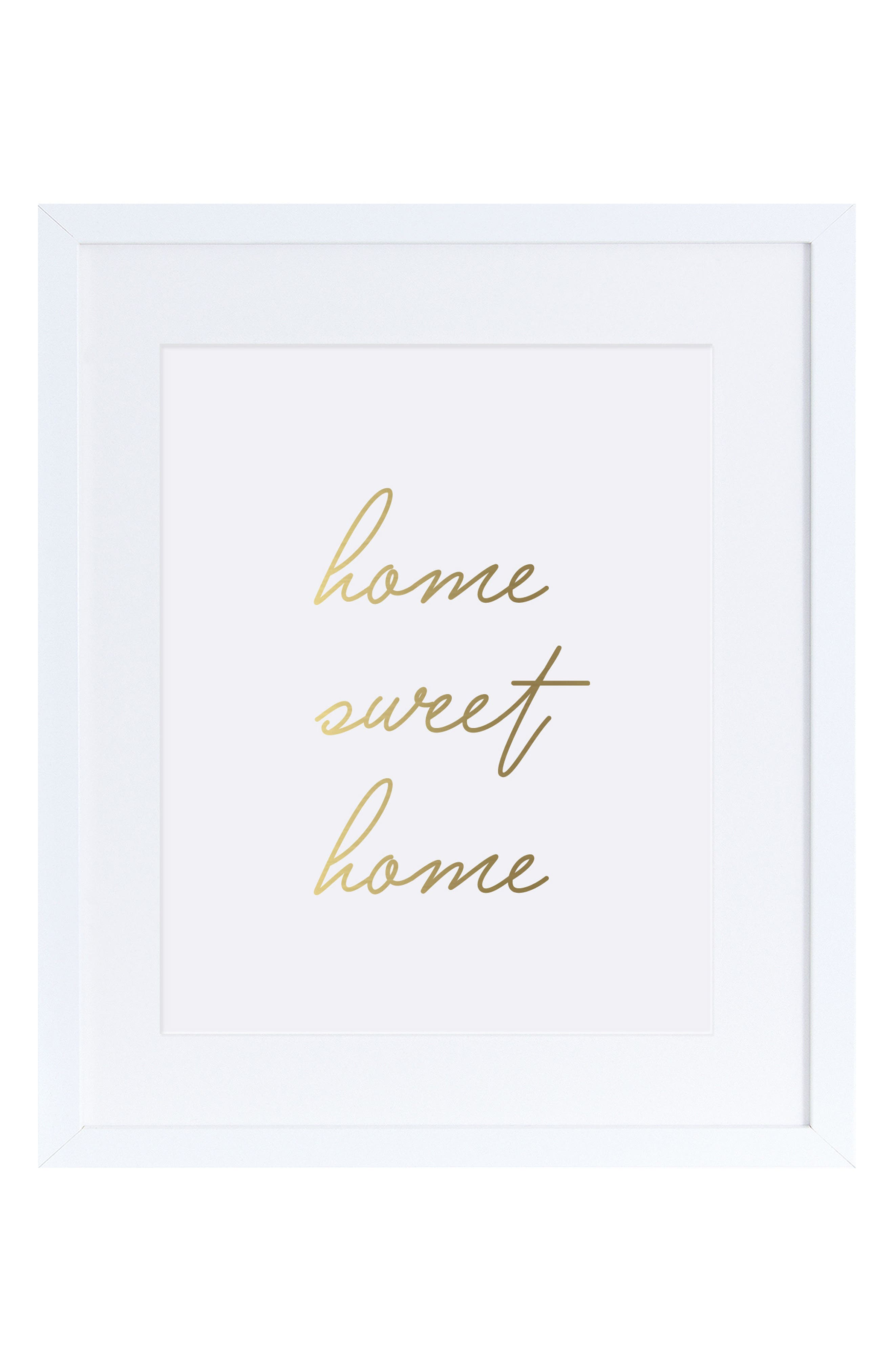 The Pink Orange Home Sweet Home Wall Art
