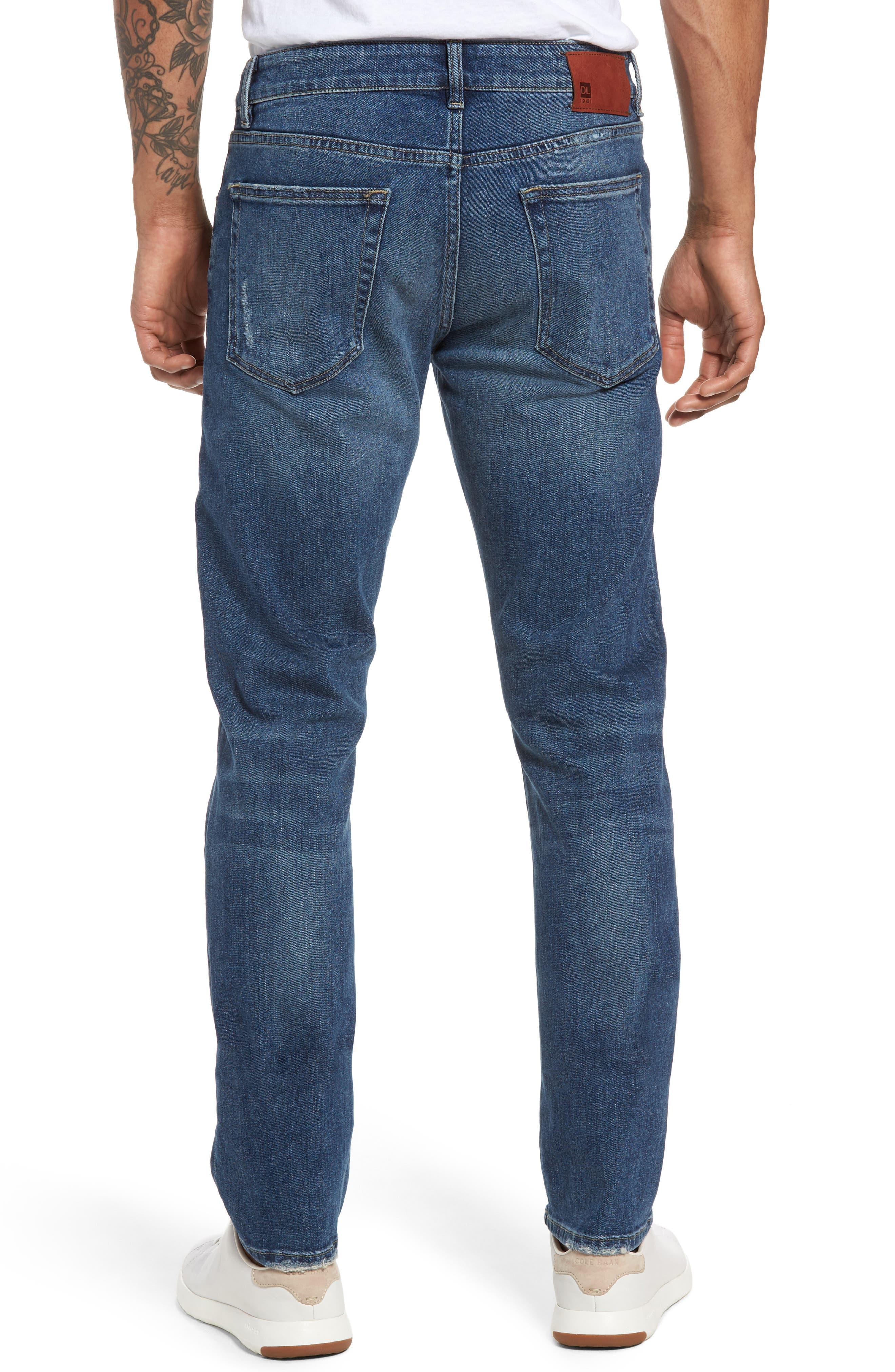 Russell Slim Straight Fit Jeans,                             Alternate thumbnail 2, color,                             Twine