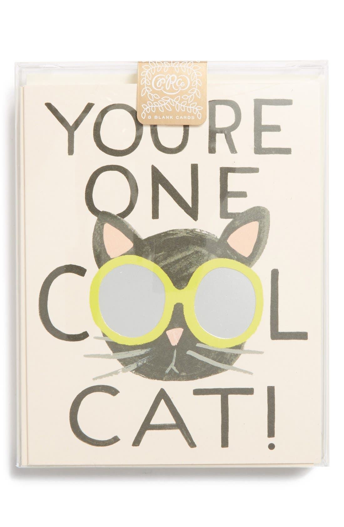 Main Image - Rifle Paper Co. 'Cool Cat' Note Cards (Set of 8)