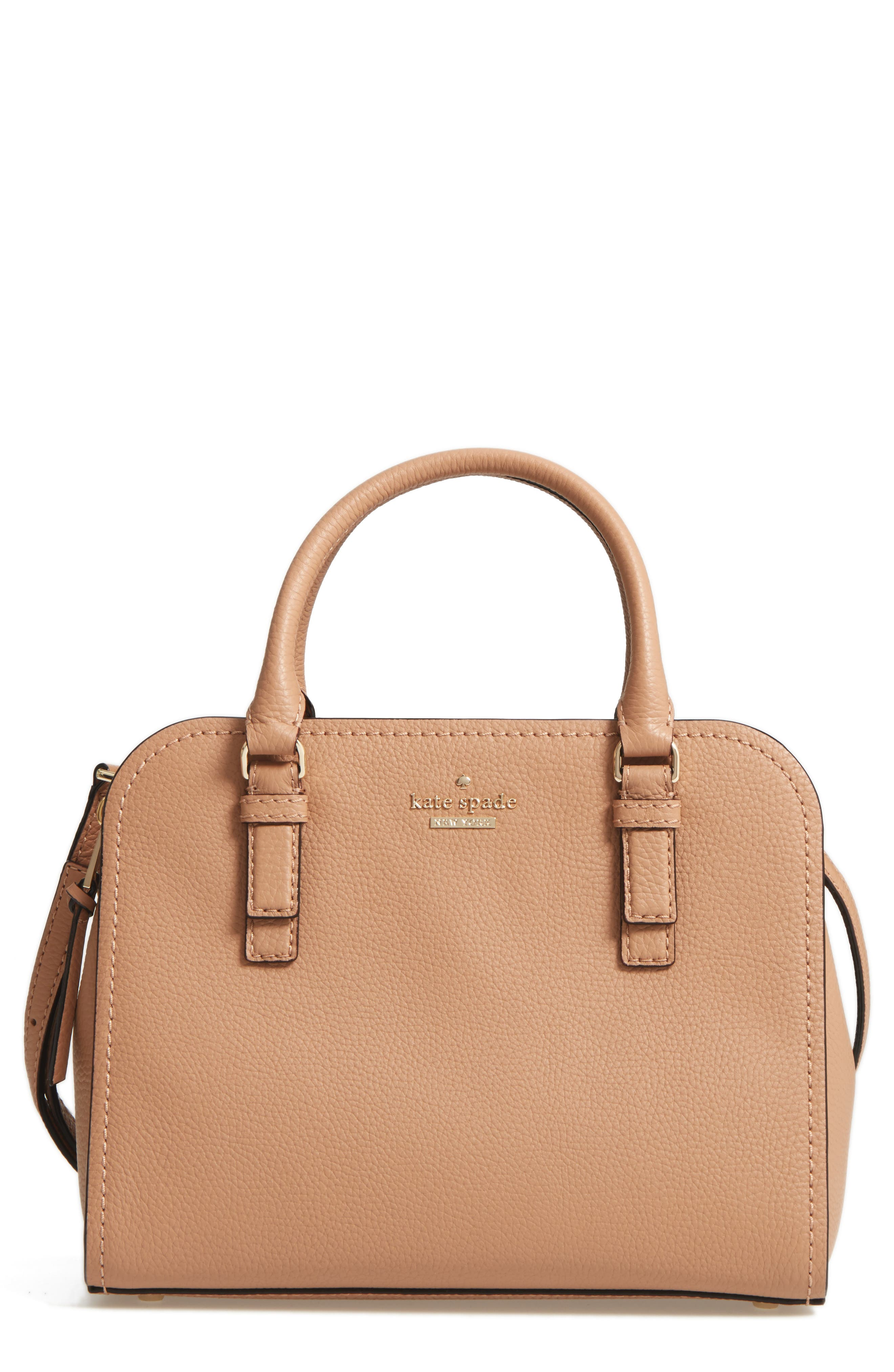 jackson street small kiernan leather top handle satchel,                             Main thumbnail 1, color,                             Hazel