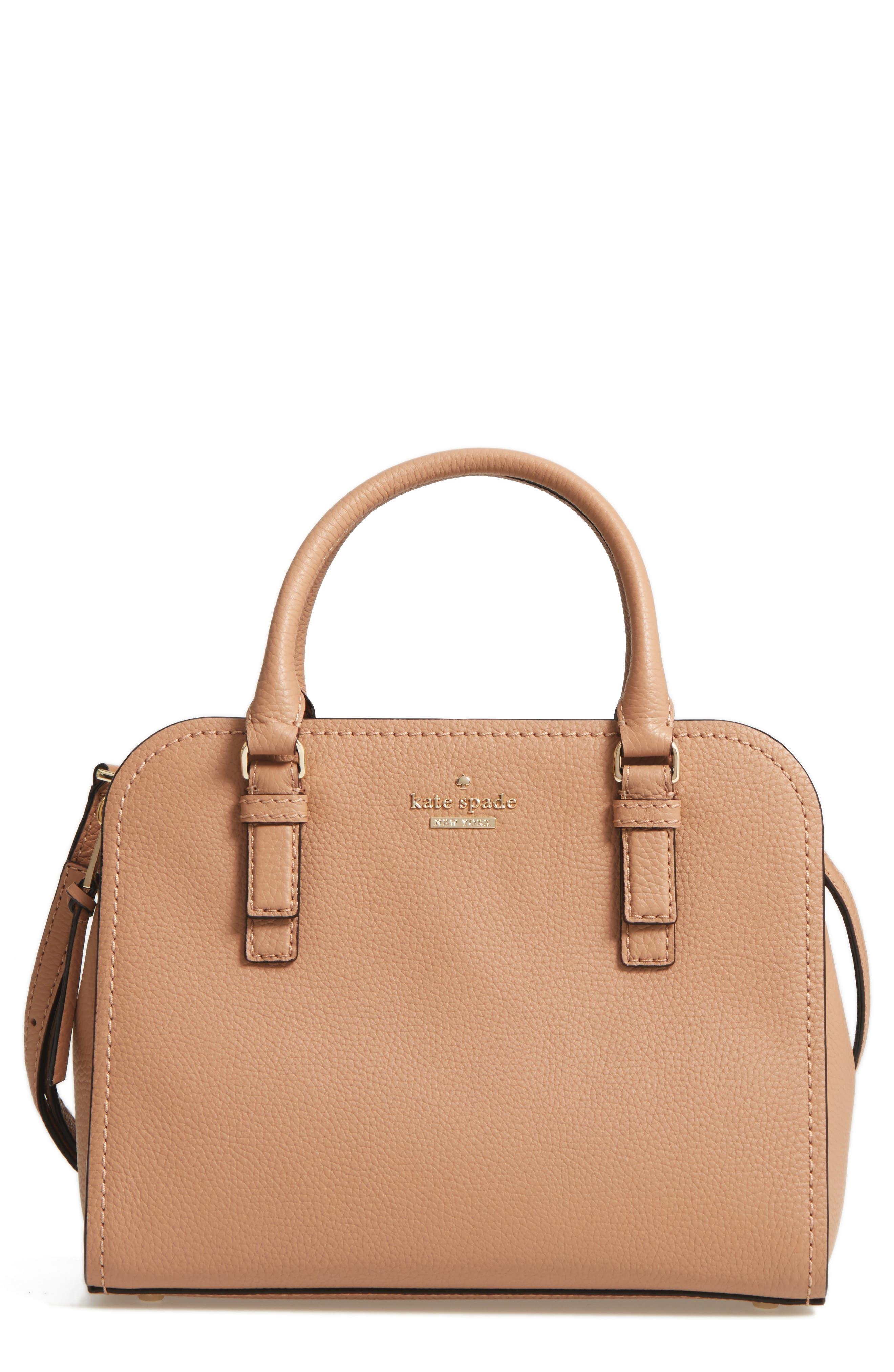 jackson street small kiernan leather top handle satchel,                         Main,                         color, Hazel