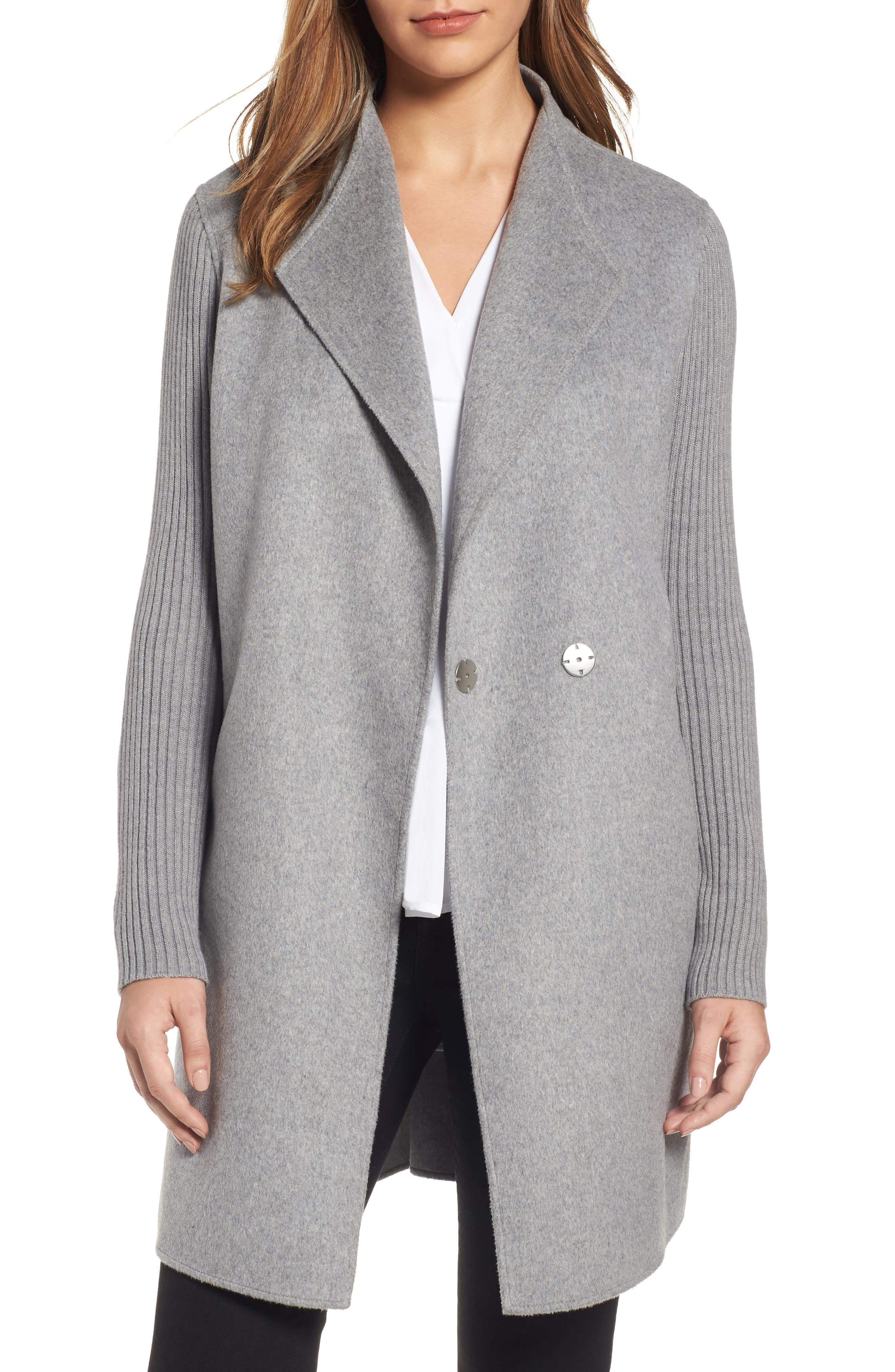 Kenneth Cole New York Double Face Coat (Regular & Petite)