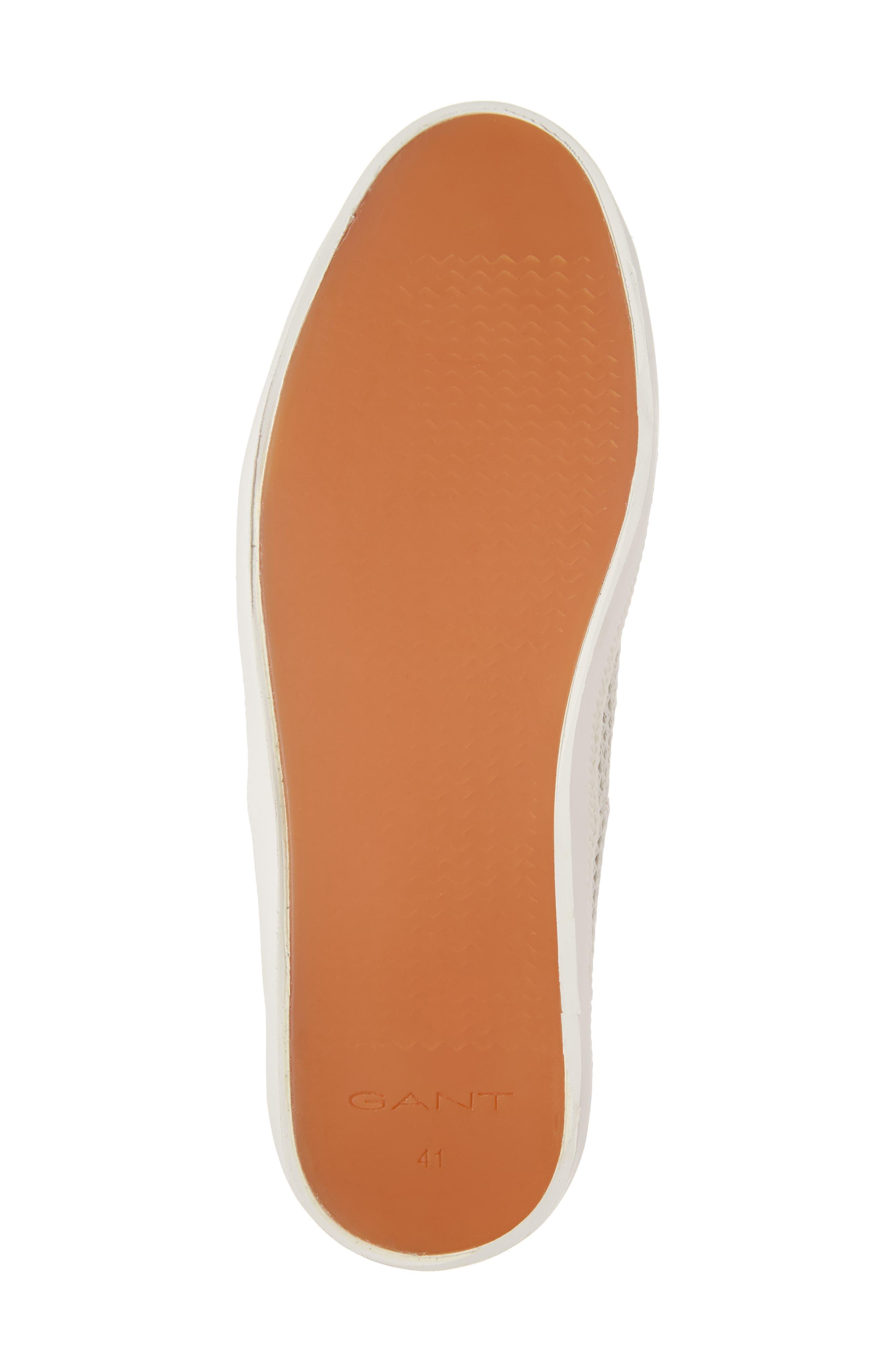 Delray Woven Slip-On Sneaker,                             Alternate thumbnail 6, color,                             Bone Beige Fabric