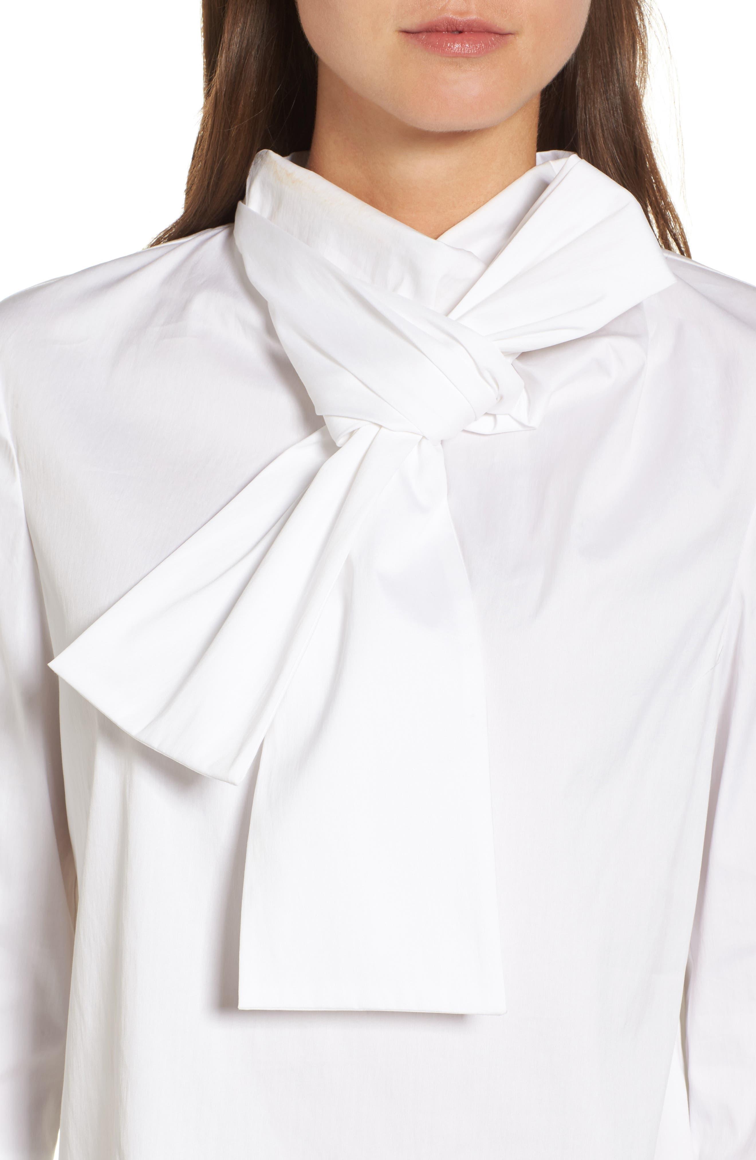 Alternate Image 5  - Halogen® Bow Neck Top (Regular & Petite)