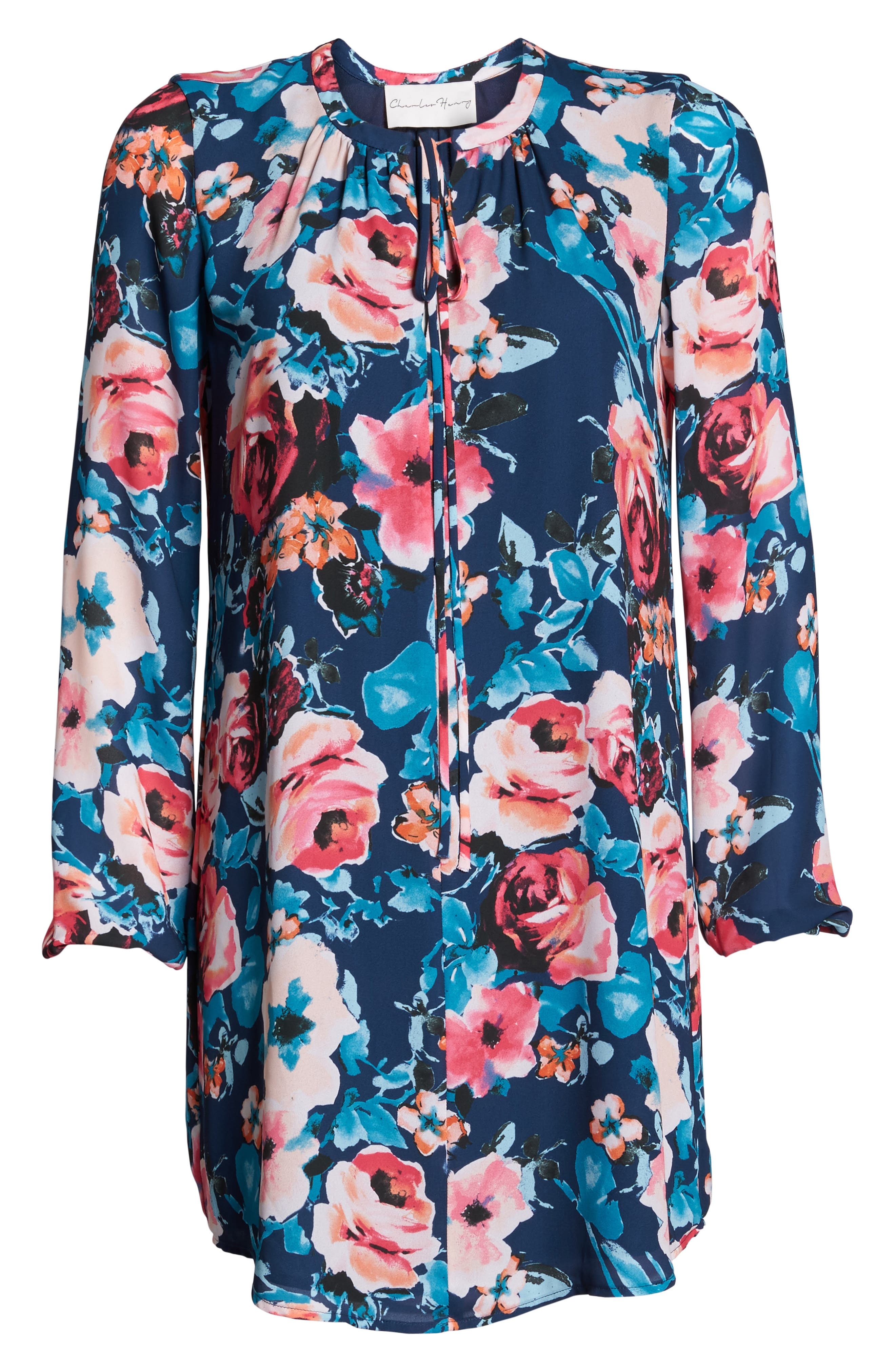 Alternate Image 7  - Charles Henry Floral Shirtdress (Regular & Petite)