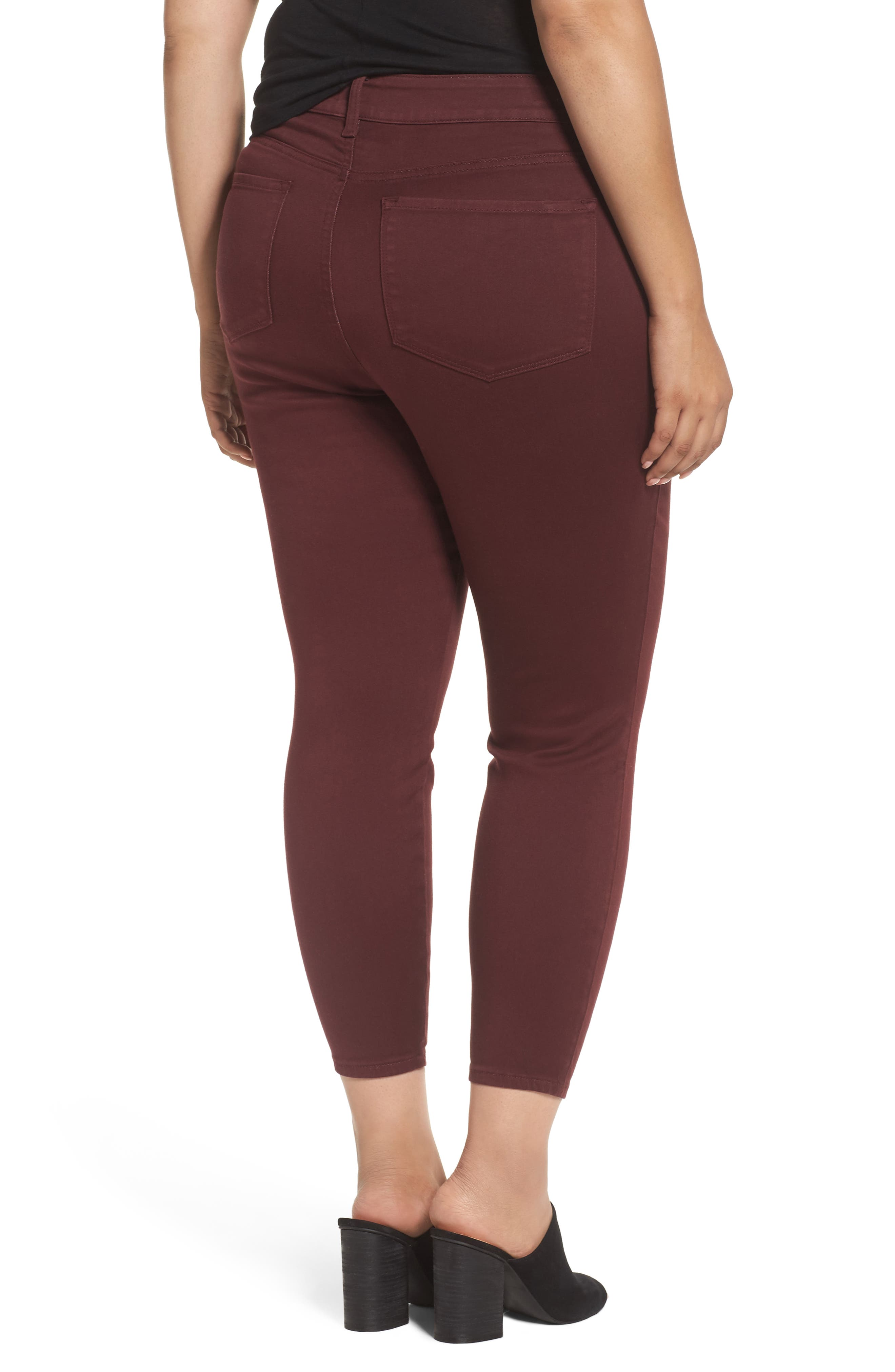 Ami Stretch Skinny Jeans,                             Alternate thumbnail 2, color,                             Deep Currant